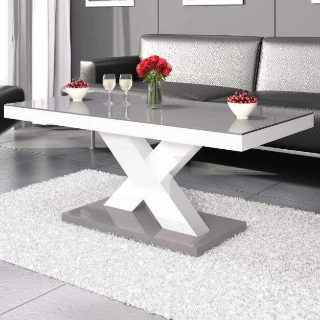 Collingswood Coffee Table Color: Gray;White