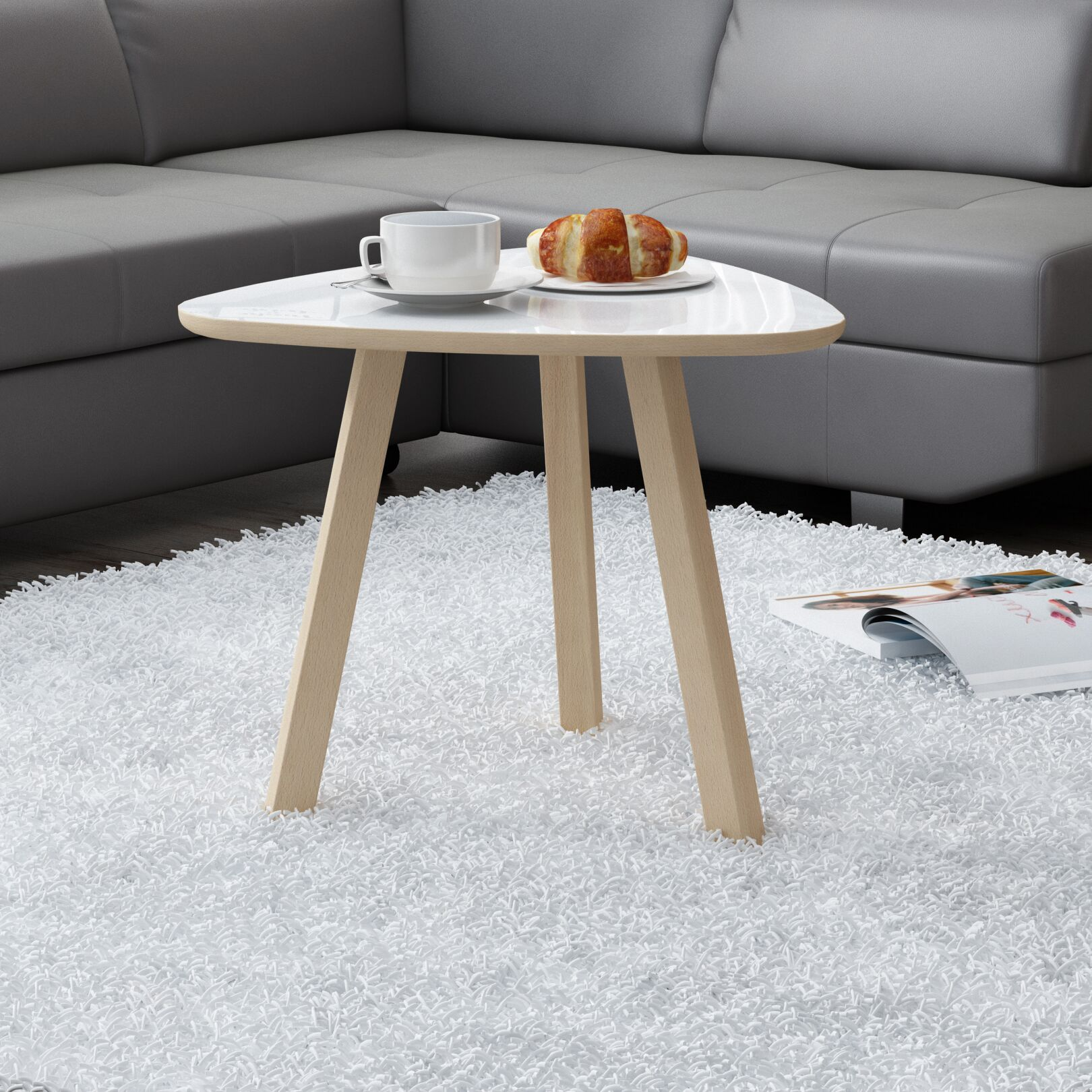 Blandford Coffee Table Top Color: Gloss White