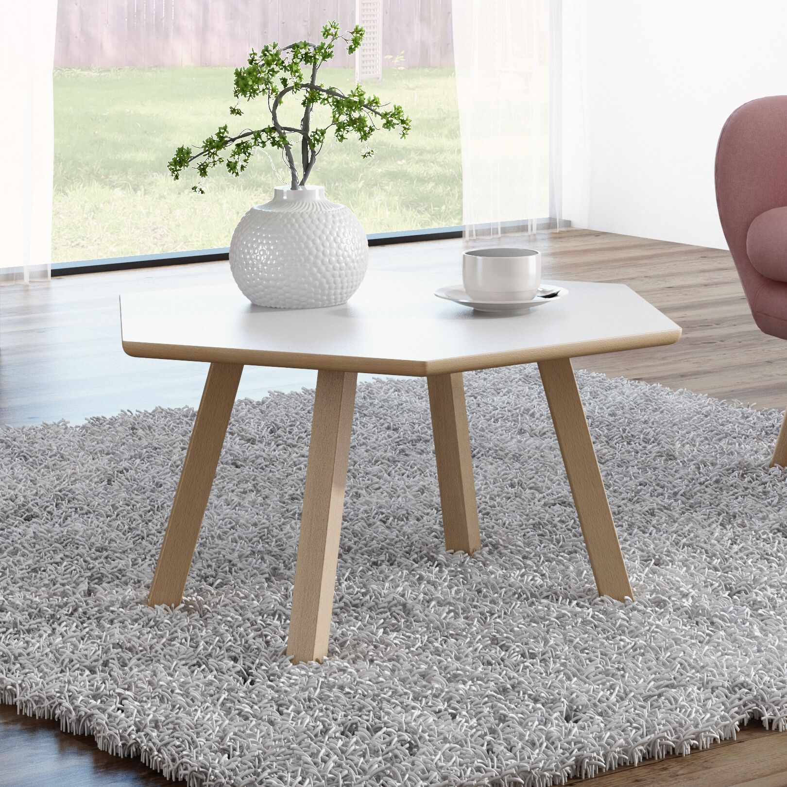 Blandford 4 Legs Coffee Table Top Color: Matte White