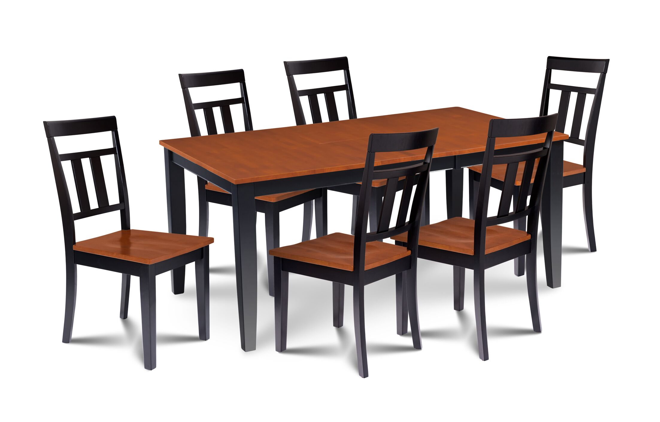 Dining Table Sets Charlestown Contemporary 7 Piece Solid Wood Dining Set
