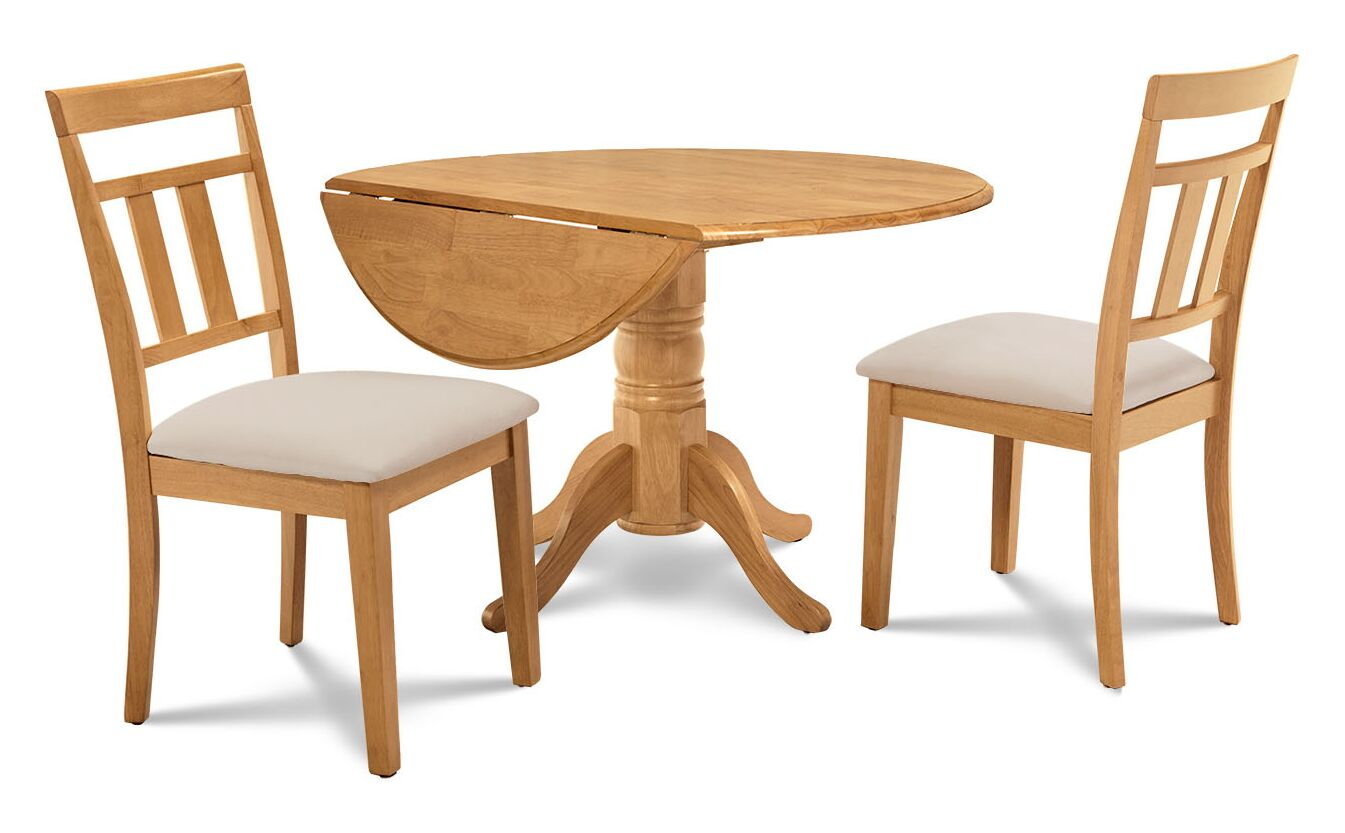 Dining Table Sets Chesterton 3 Piece Solid Wood Dining Set