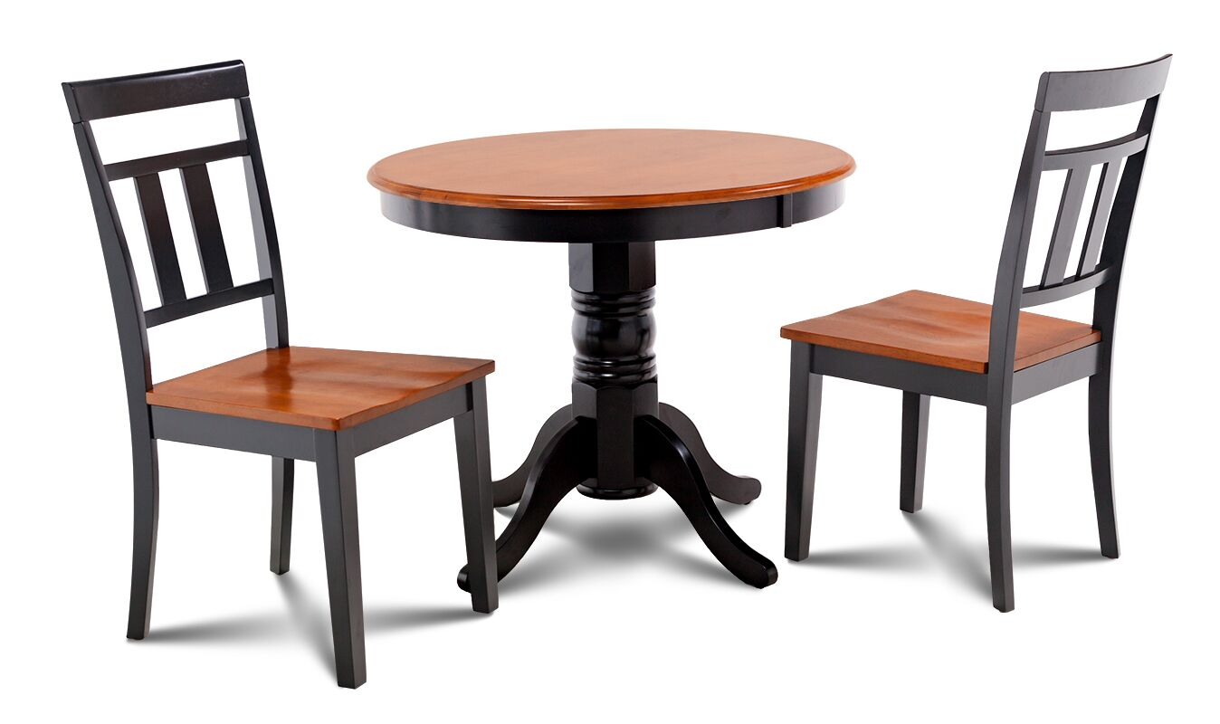 Dining Table Sets Cedarville 3 Piece Carved Solid Wood Dining Set