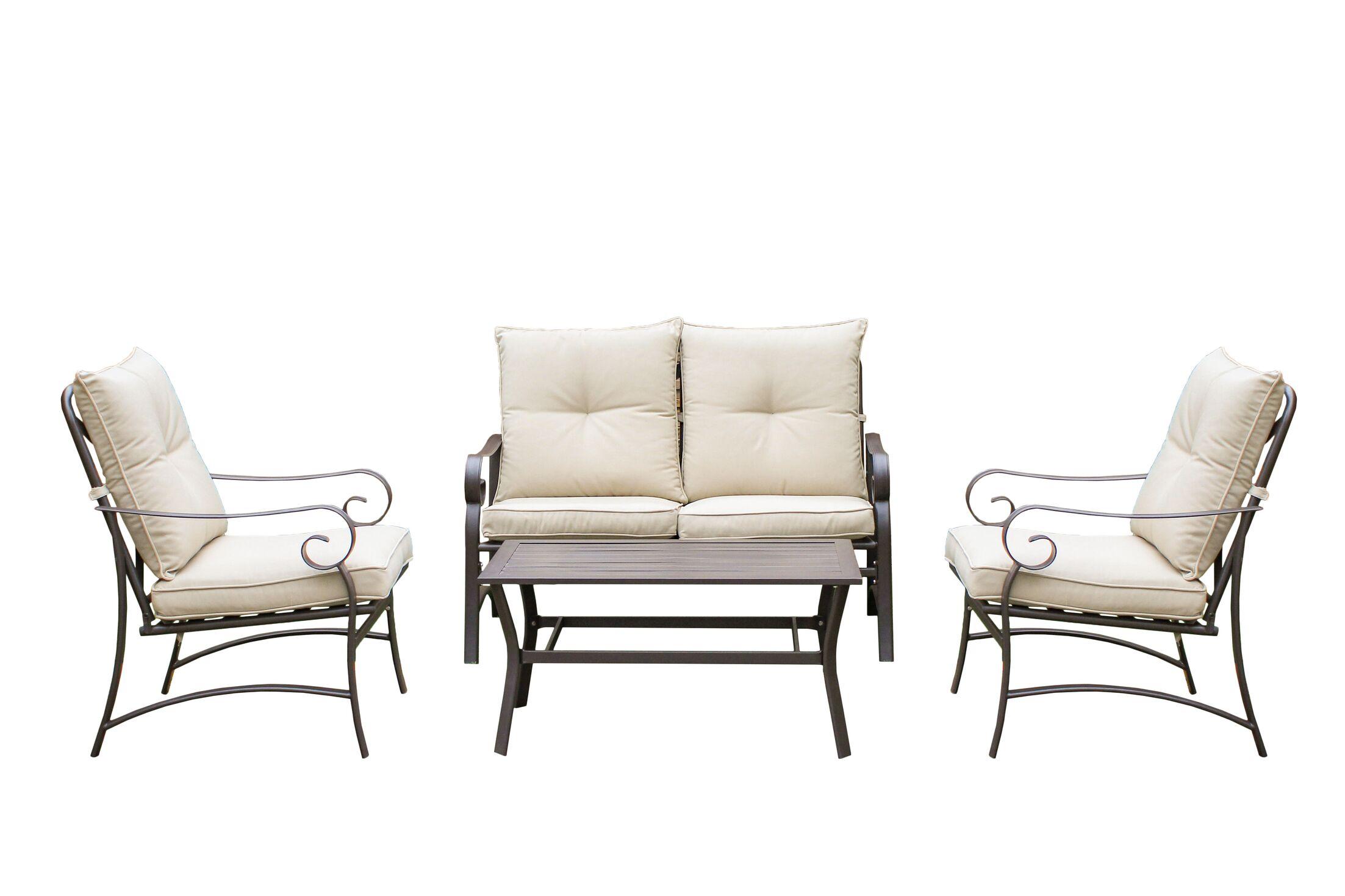 Tony 4 Piece Sofa Set with Cushions