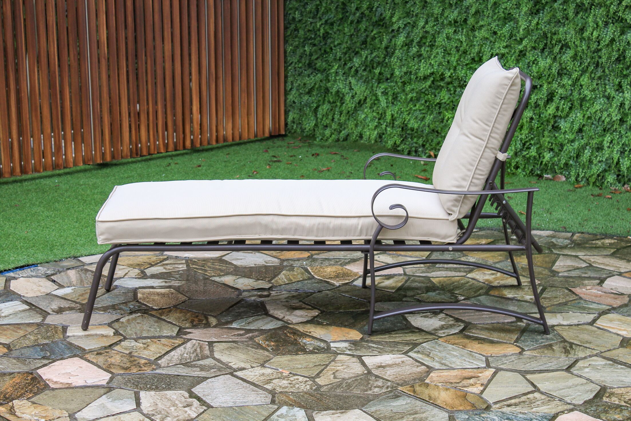Tony Reclining Chaise Lounge with Cushion