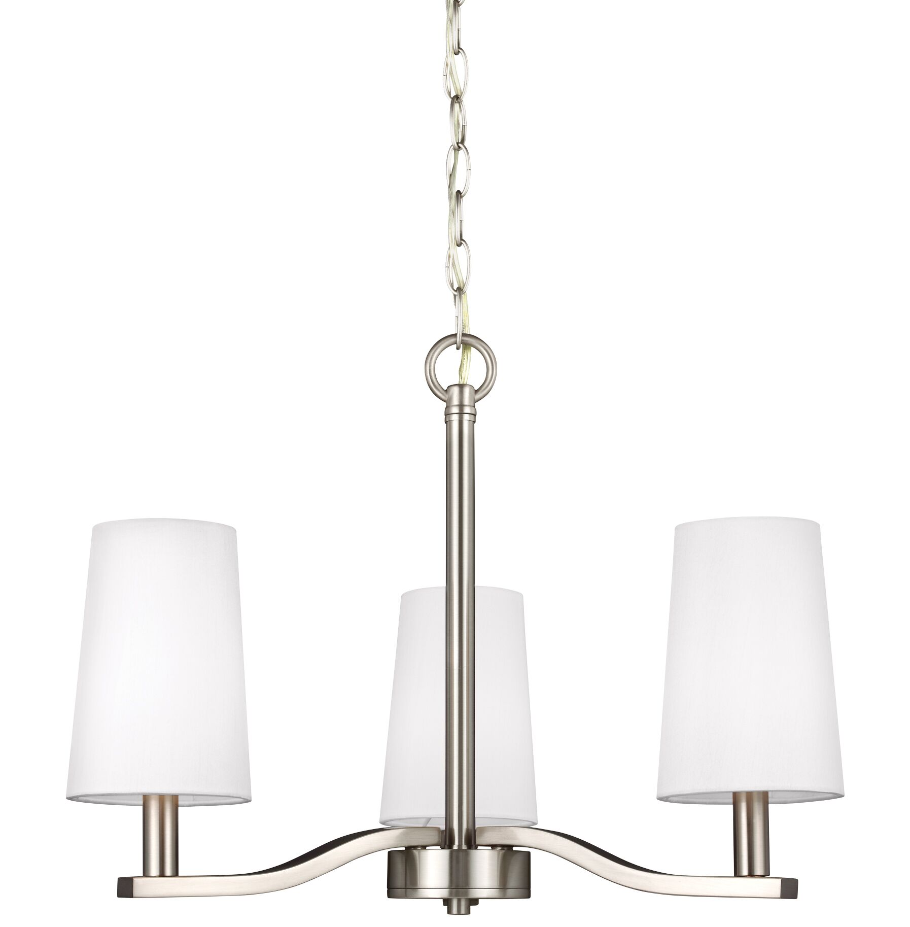 Brashears 3-Light Shaded Chandelier Finish: Brushed Nickel