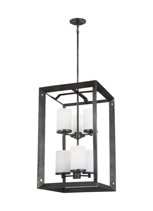 Galindo 6-Light Square/Rectangle Pendant Finish: Stardust, Bulb Included: Yes