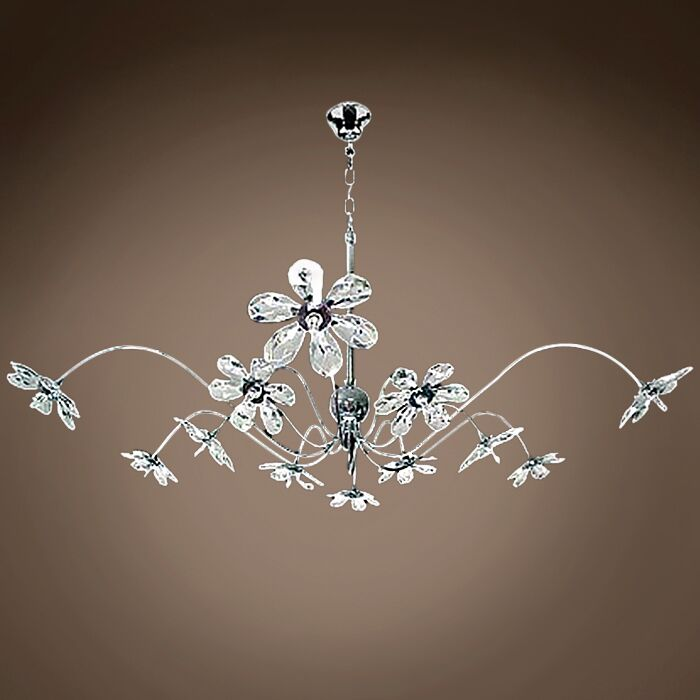 Alexa 12-Light Sputnik Chandelier Crystal Grade: European, Crystal Color: Clear