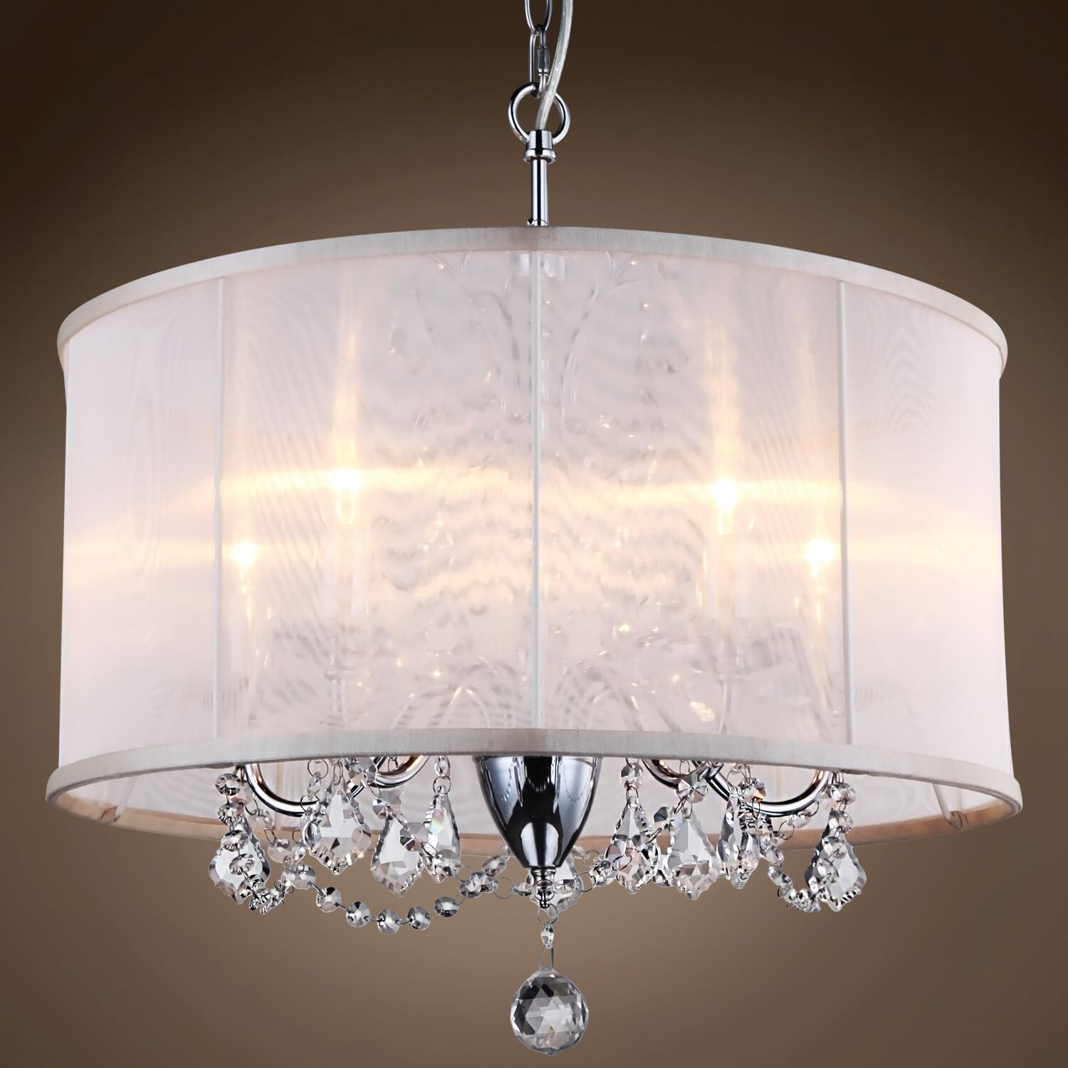 Brantwood 5-Light Chandelier Crystal: Clear Swarovski