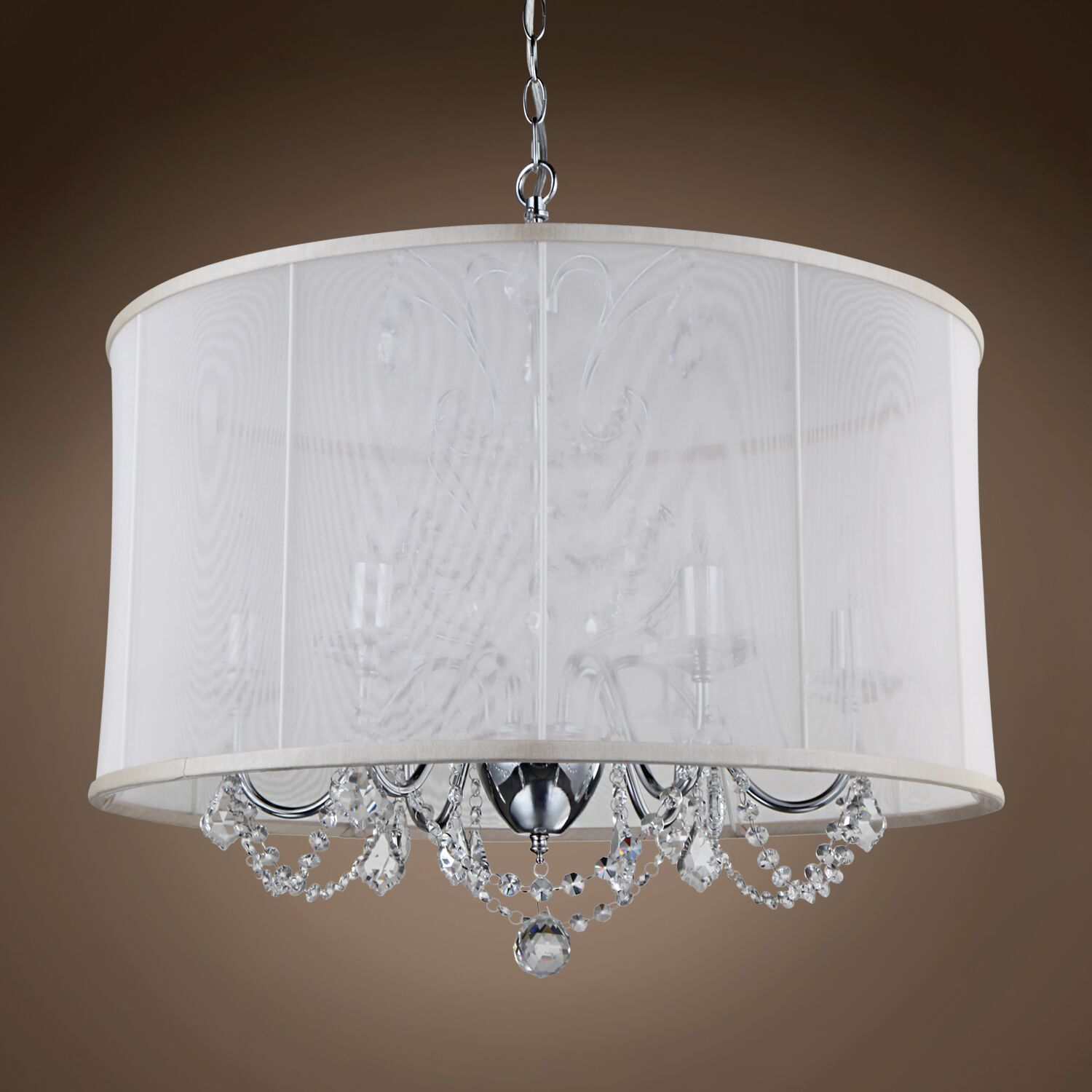Braye Park 6-Light Chandelier Crystal: Smoke European