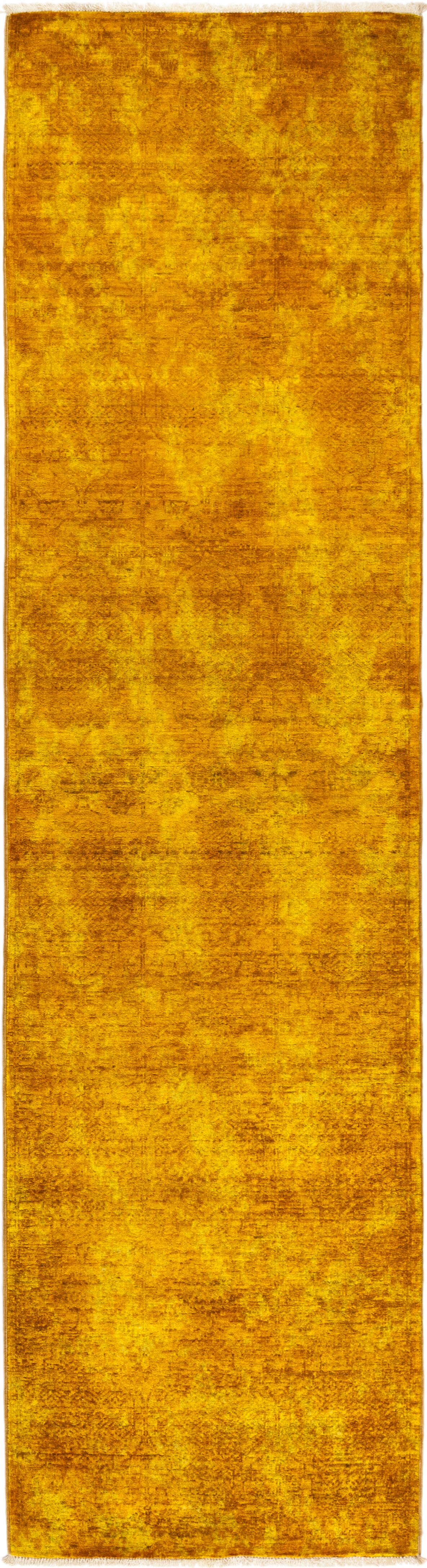 One-of-a-Kind Courter Hand Knotted Wool Yellow Area Rug