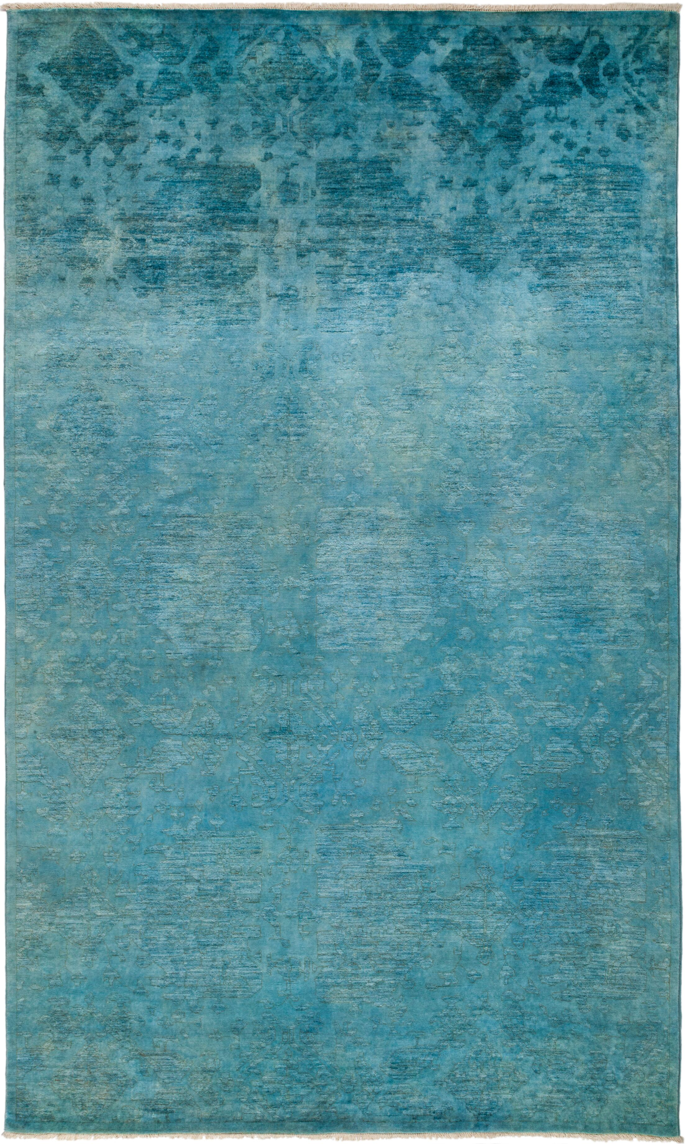 One-of-a-Kind Benjamin Hand Knotted Blue Area Rug
