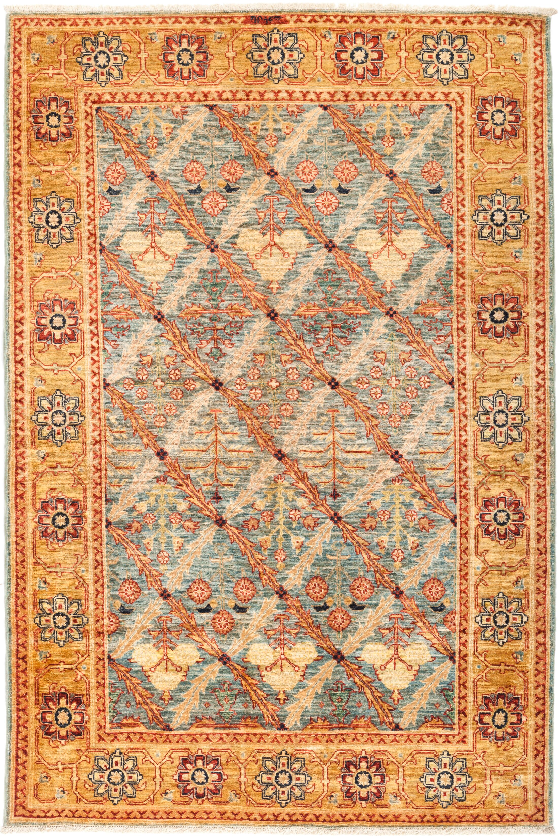 One-of-a-Kind Heimbach Hand Knotted Wool Orange Area Rug