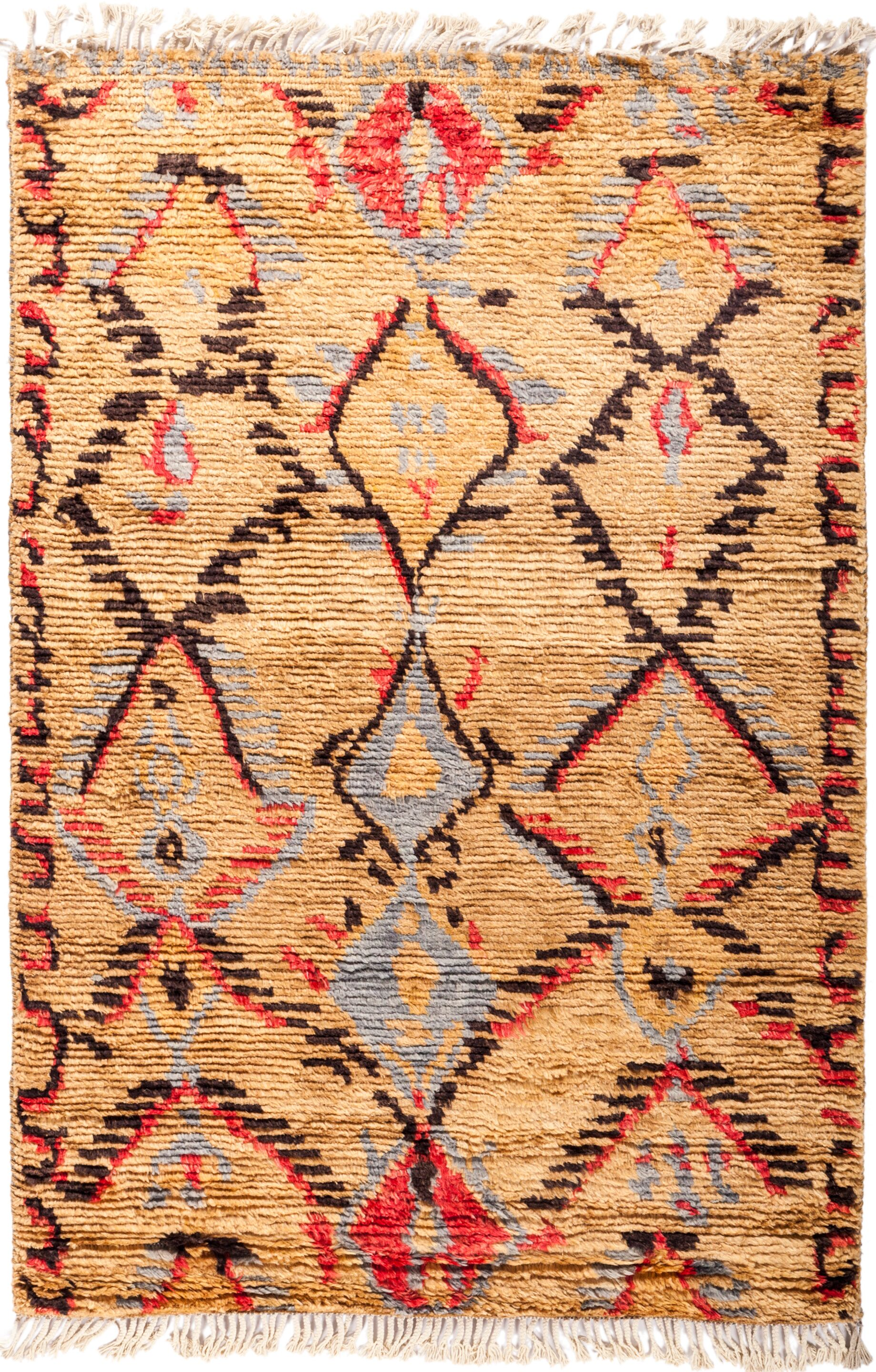 One-of-a-Kind Heiman Hand Knotted Brown Area Rug