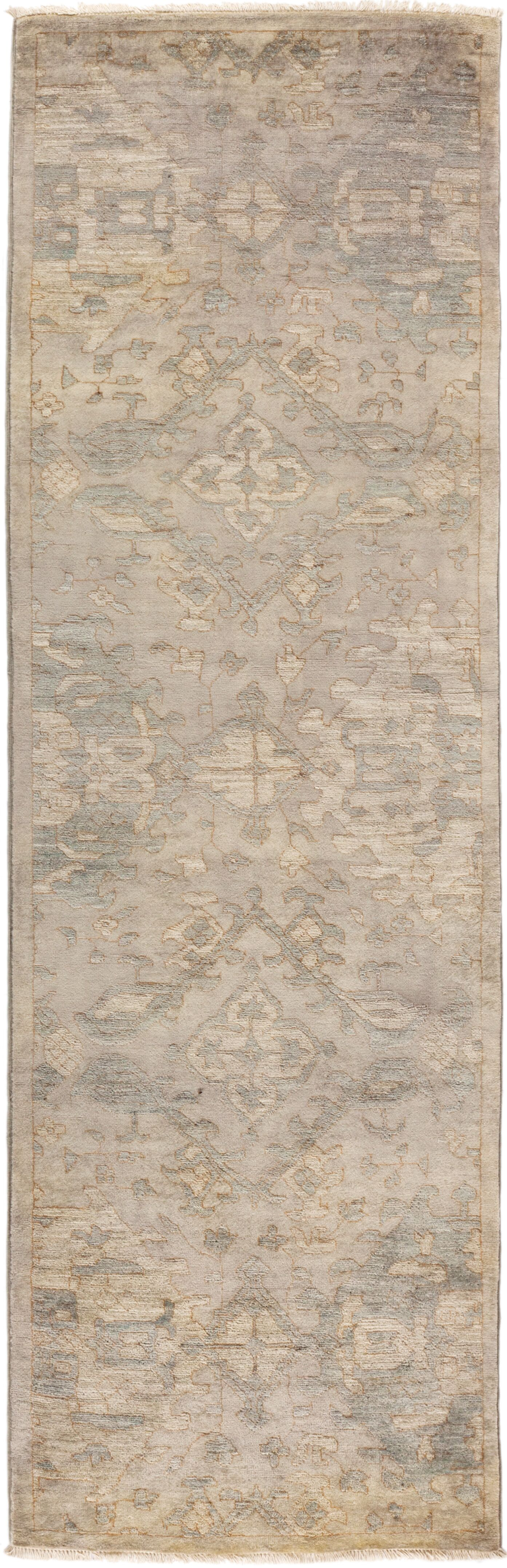 One-of-a-Kind Pritt Hand Knotted Wool Gray Area Rug