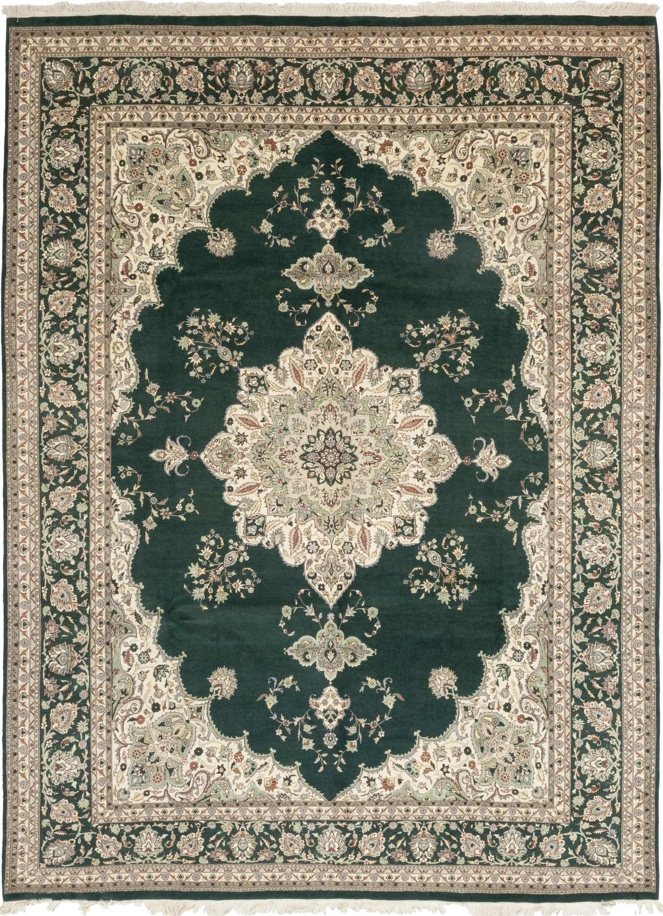 One-of-a-Kind Costigan Hand-Knotted Wool Green Indoor Area Rug