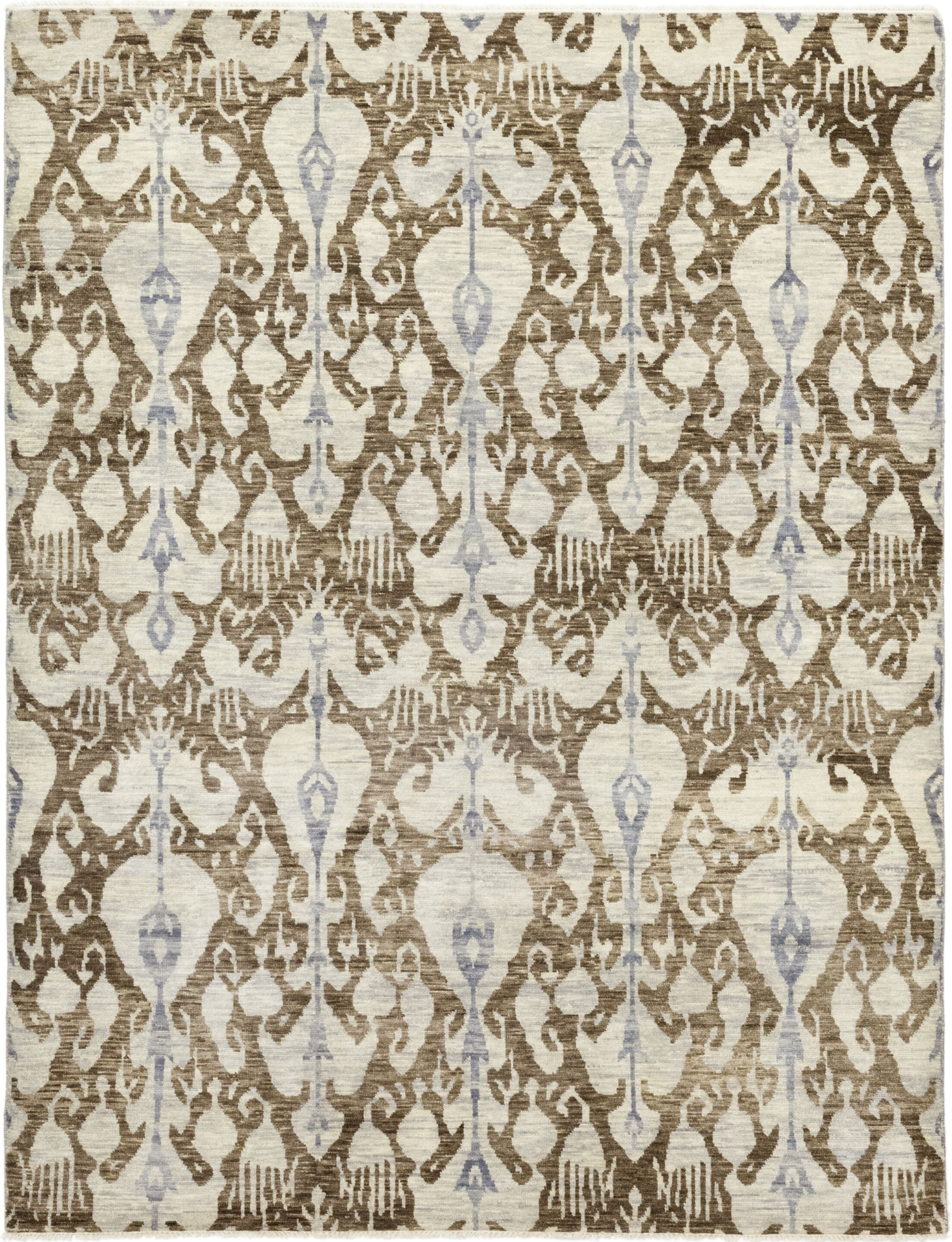 One-of-a-Kind Virenque Hand-Knotted Wool Brown/Ivory Indoor Area Rug