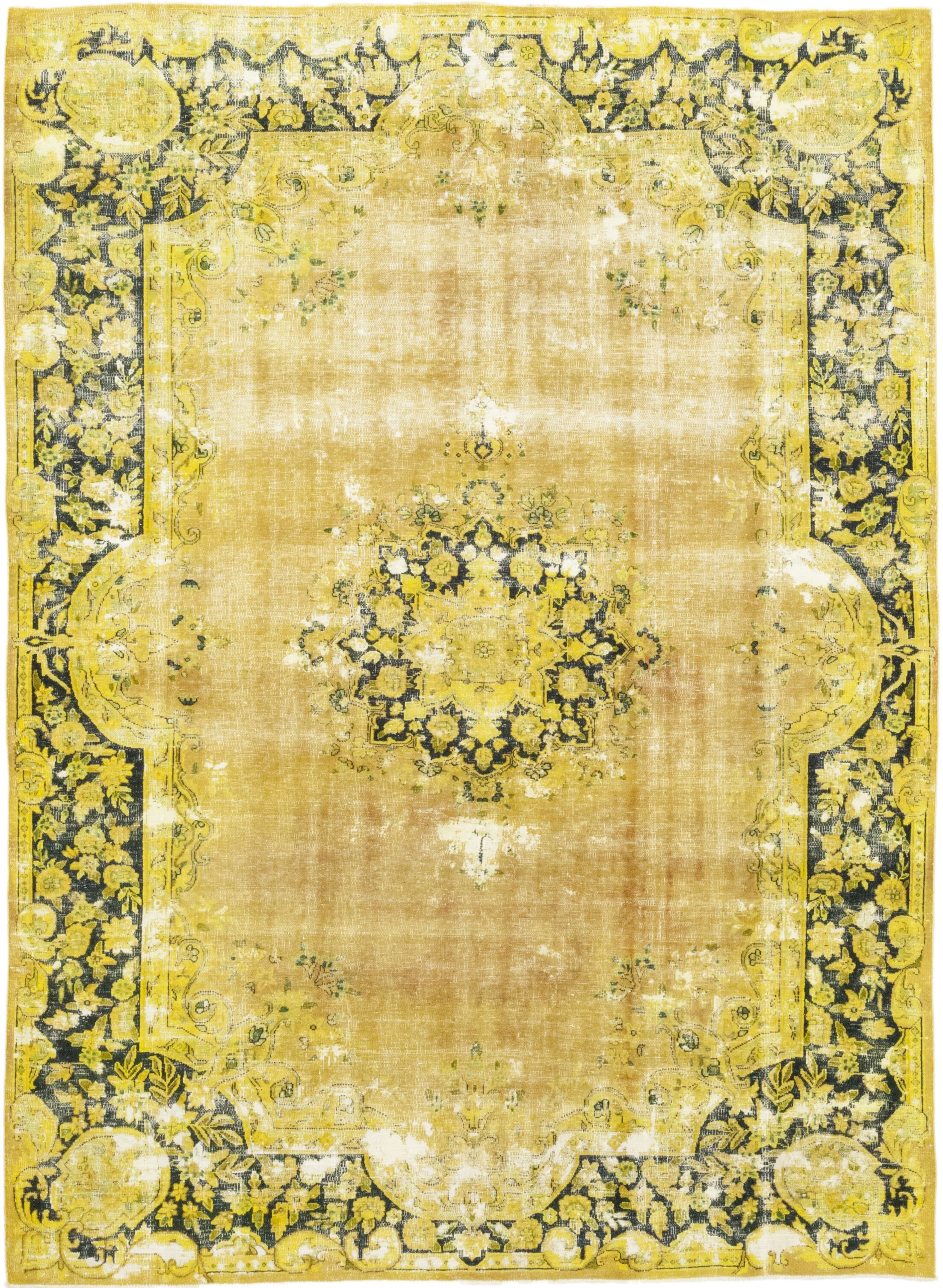 One-of-a-Kind Lisanti Hand-Knotted Wool Yellow Indoor Area Rug