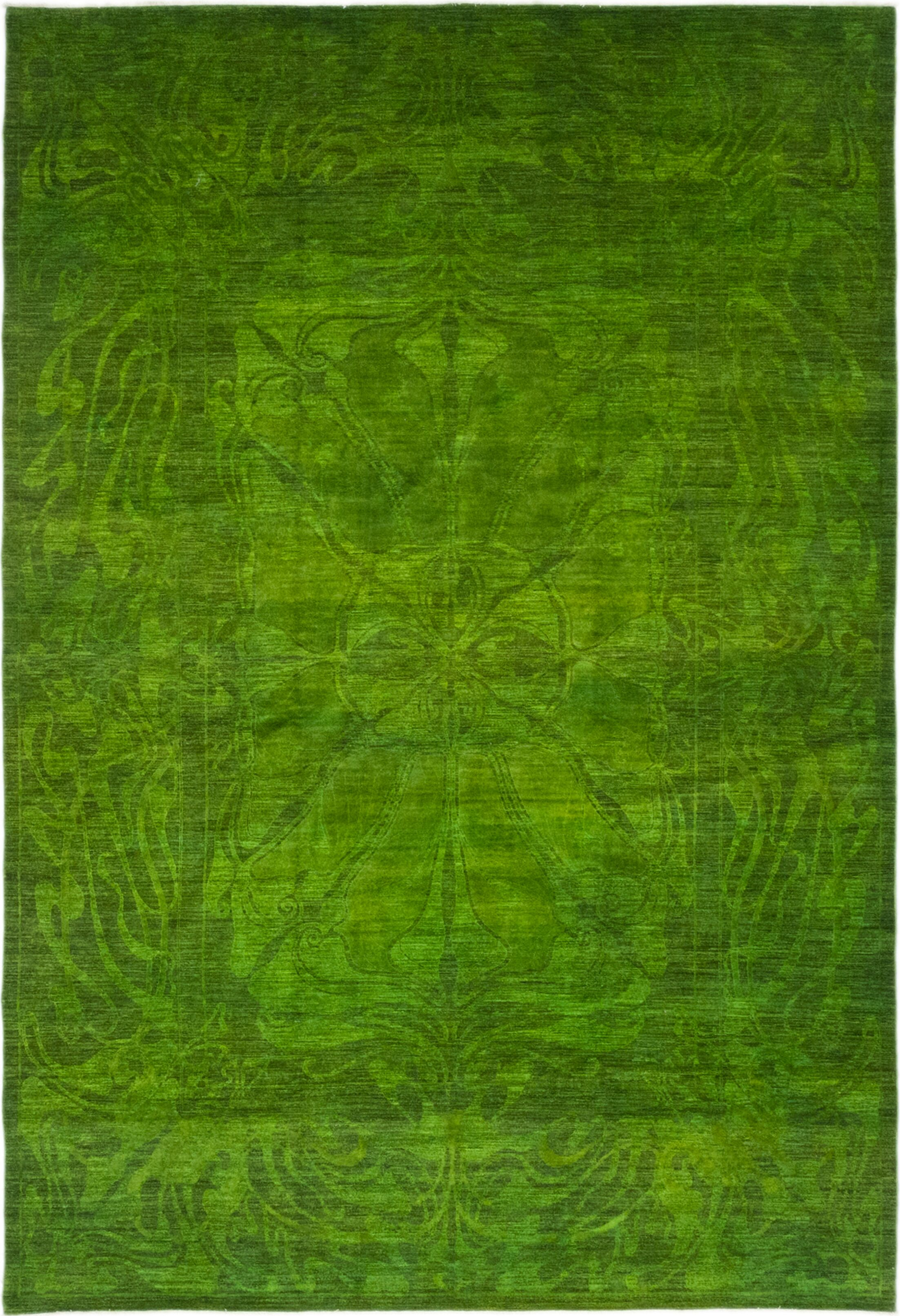 One-of-a-Kind Courter Hand-Knotted Wool Green Indoor Area Rug