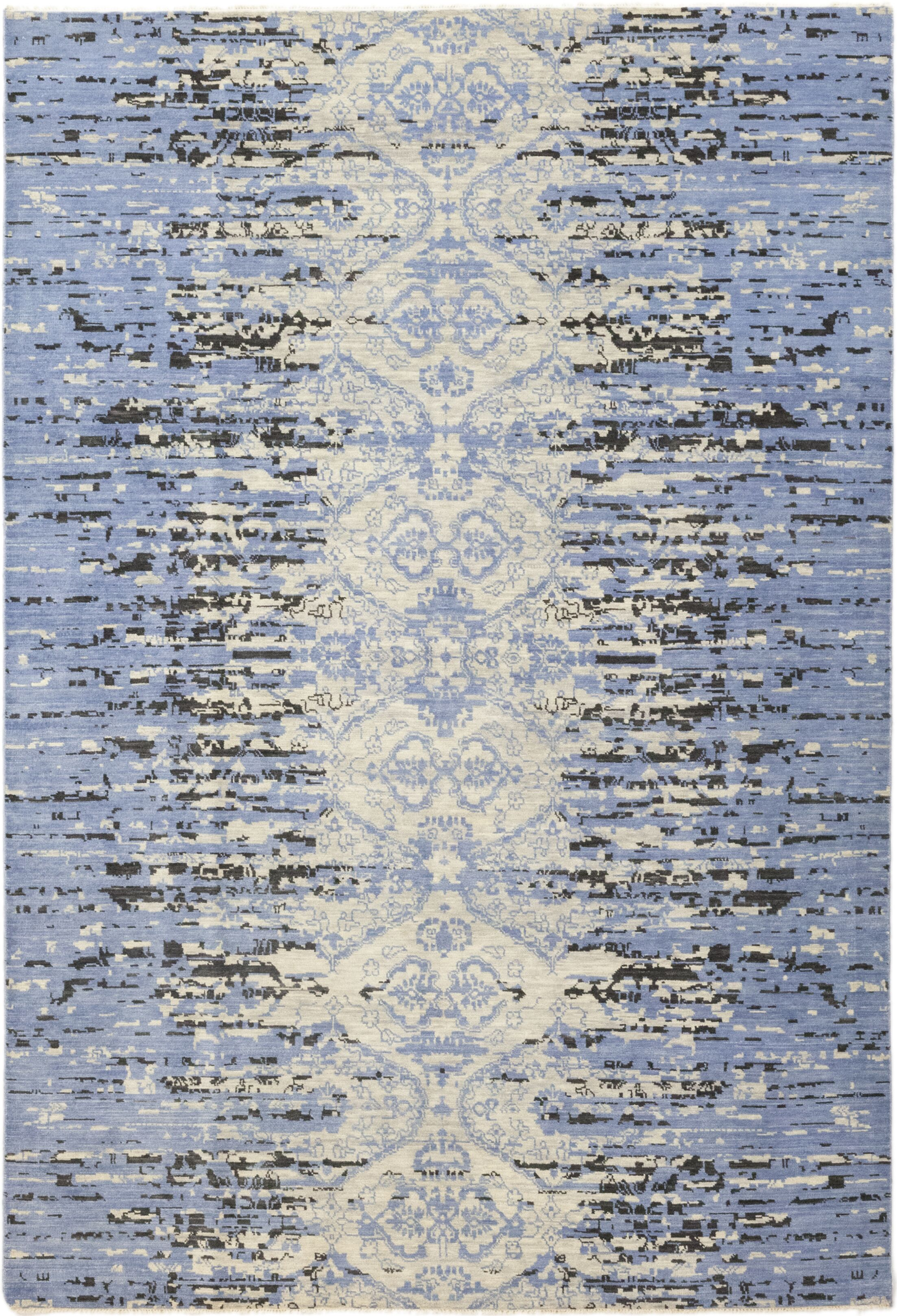 One-of-a-Kind Nevis Hand-Knotted Wool Blue Indoor Area Rug