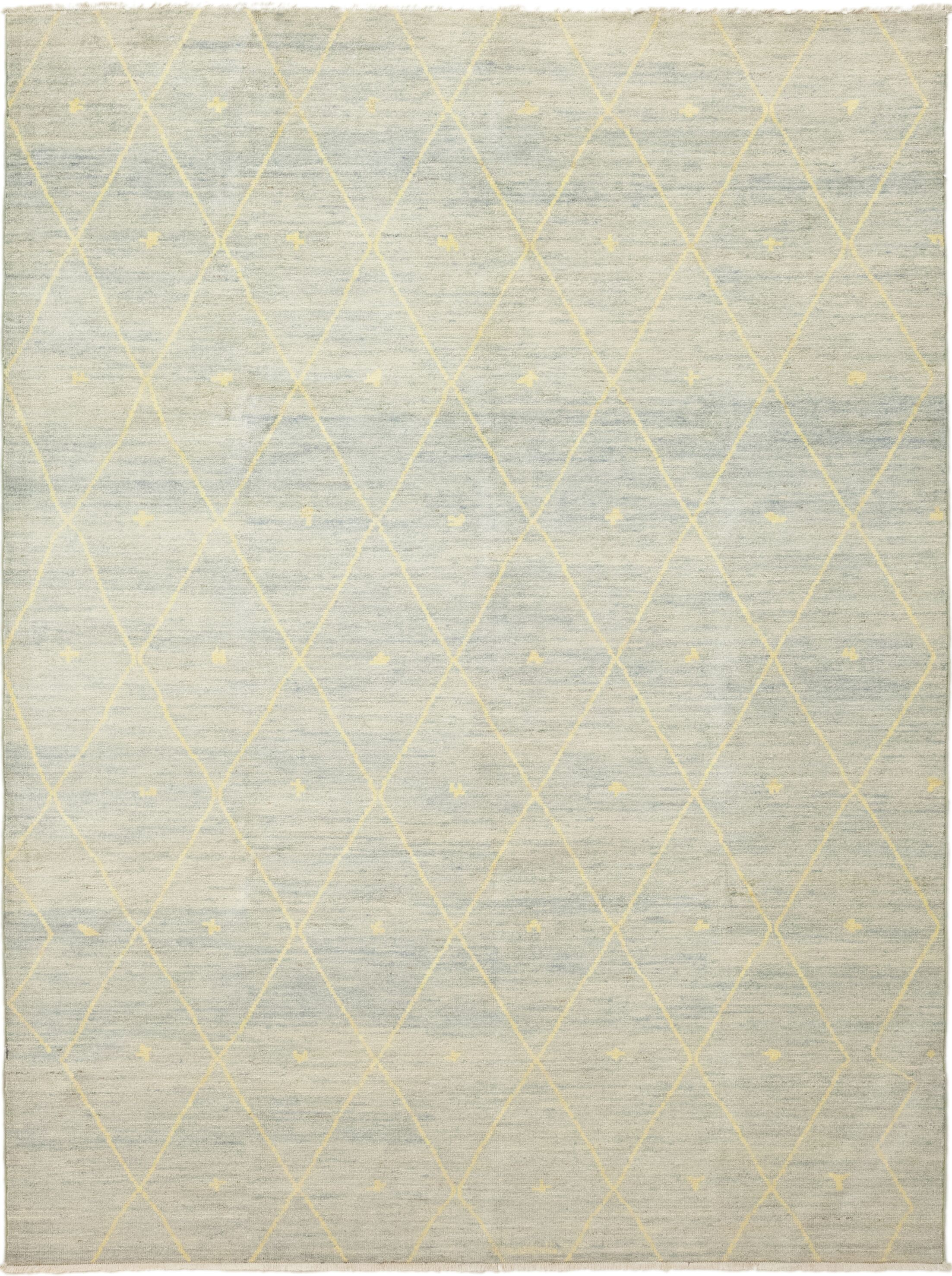 One-of-a-Kind Chelmsford Hand-Knotted Wool Blue/Beige Indoor Area Rug