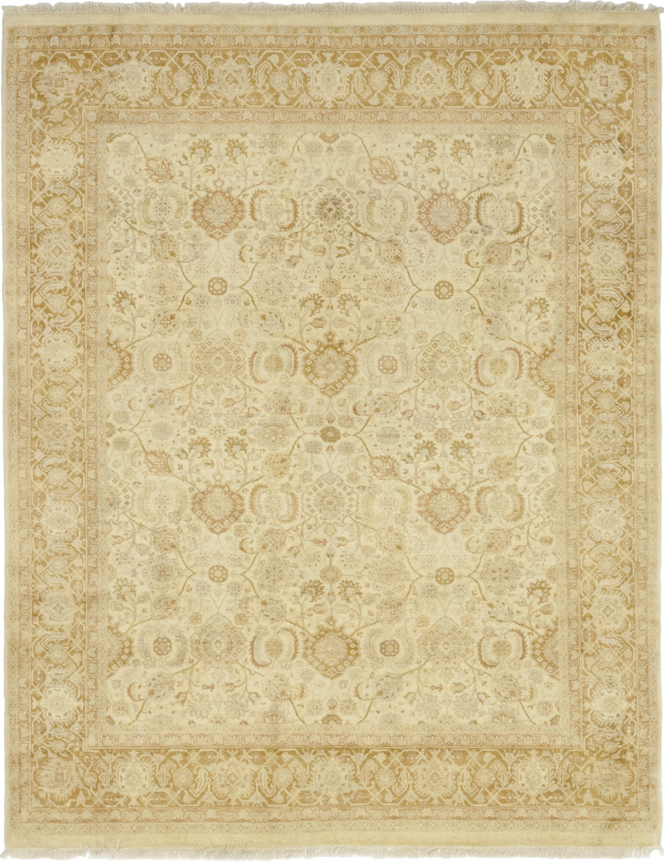 One-of-a-Kind Coulibaly Hand-Knotted Wool Beige Indoor Area Rug