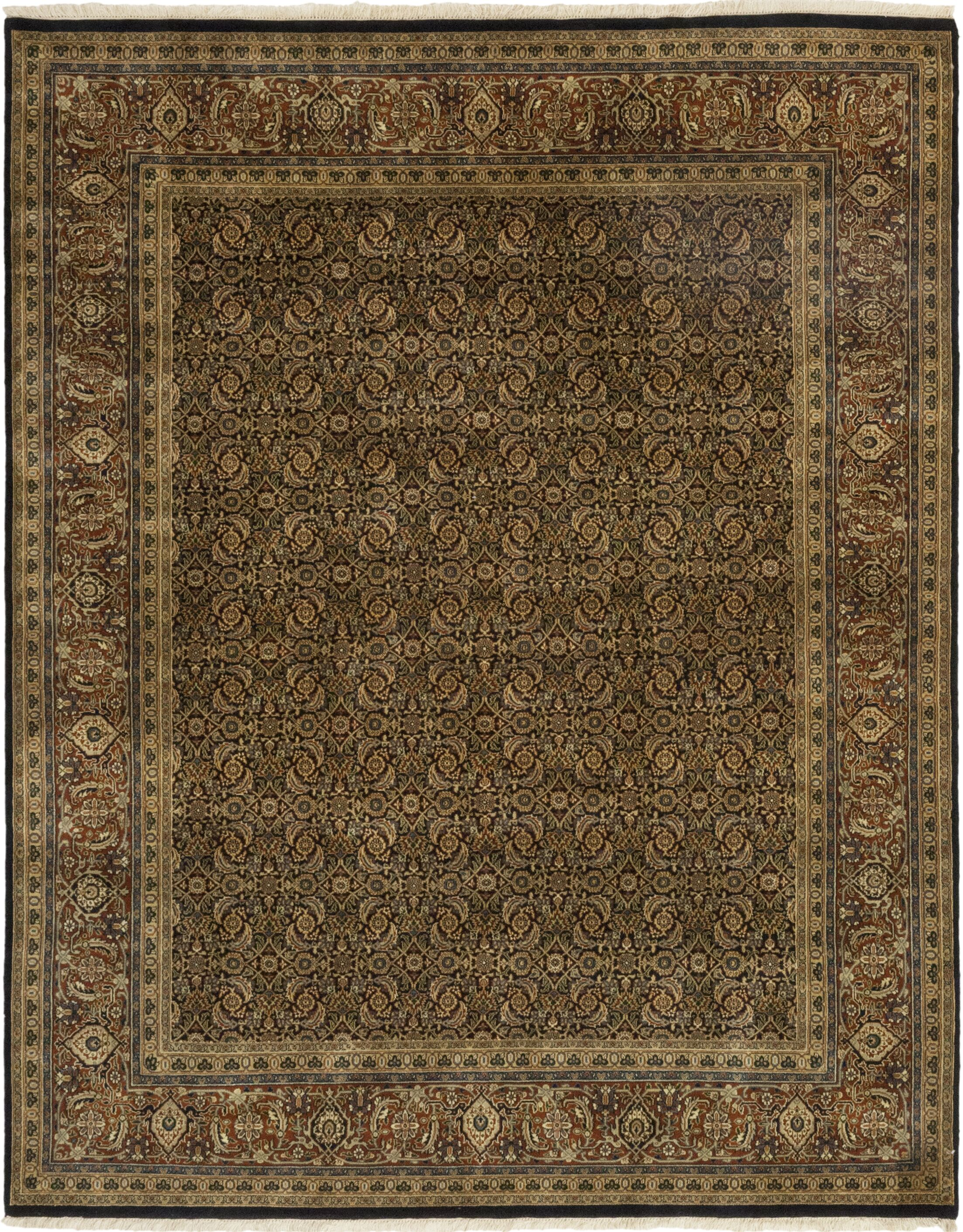One-of-a-Kind Corrado Hand-Knotted Wool Brown Indoor Area Rug