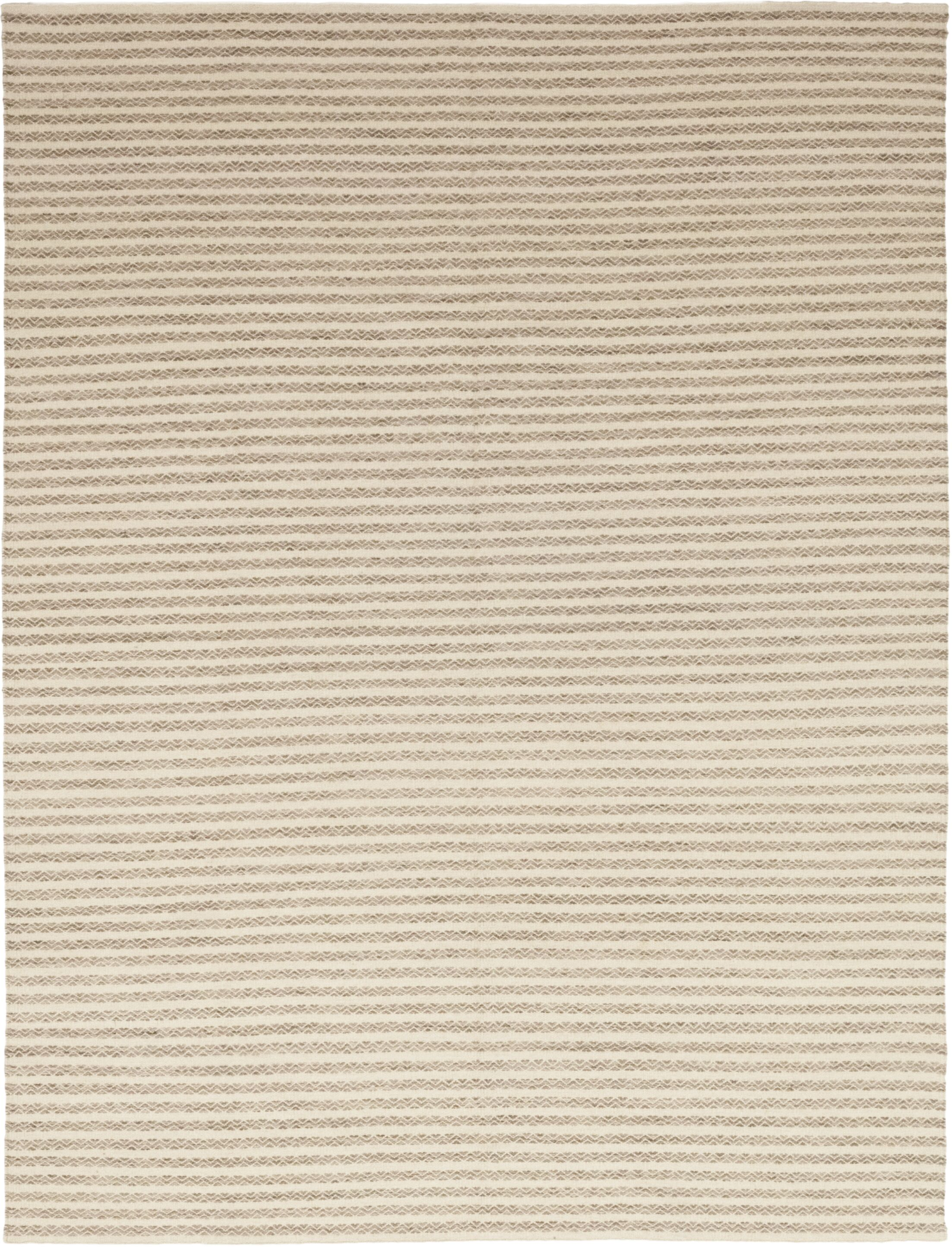 One-of-a-Kind Emrick Hand-Knotted Wool Beige Indoor Area Rug Rug Size: Rectangle 9'1
