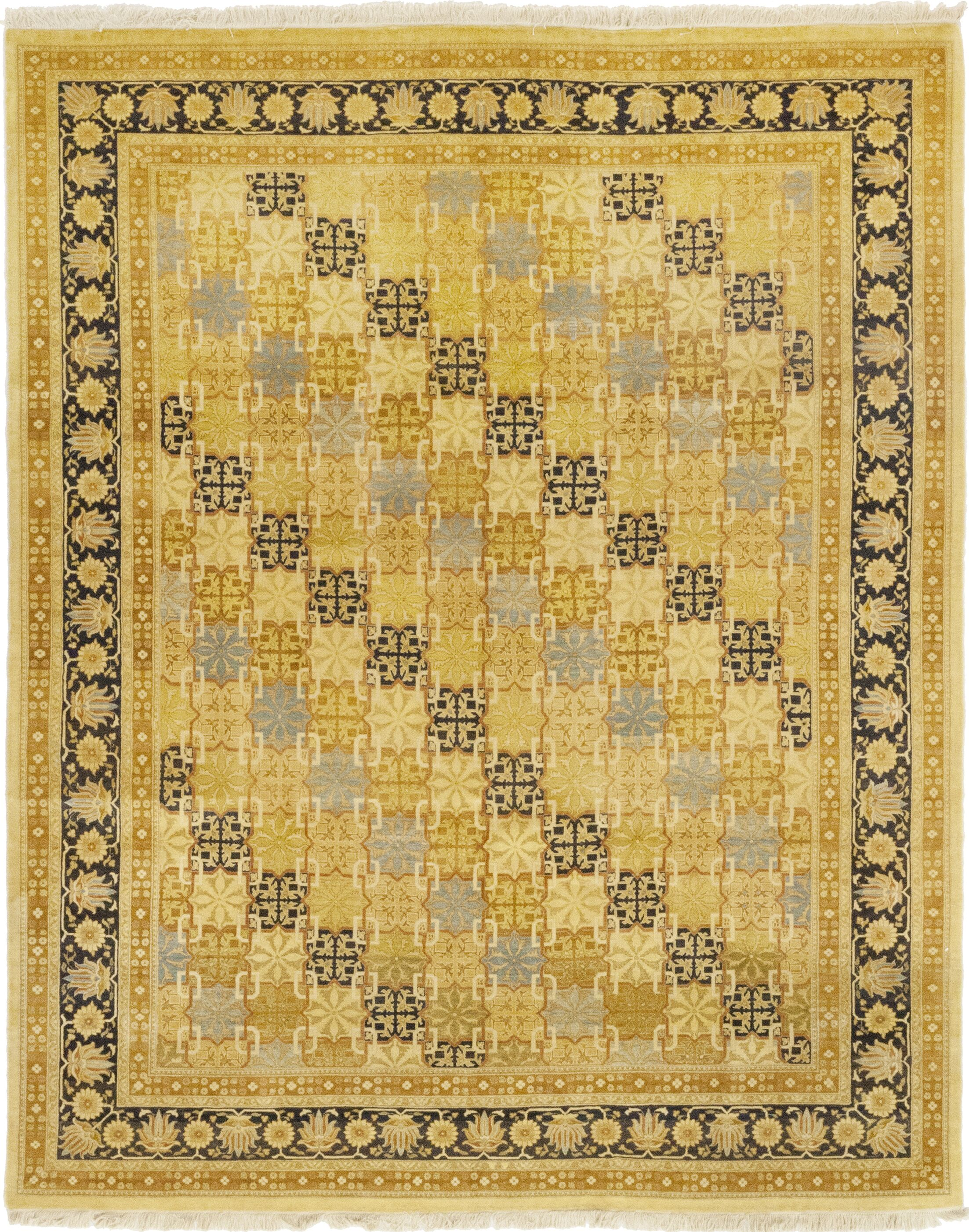 One-of-a-Kind Corrado Hand-Knotted Wool Yellow Indoor Area Rug