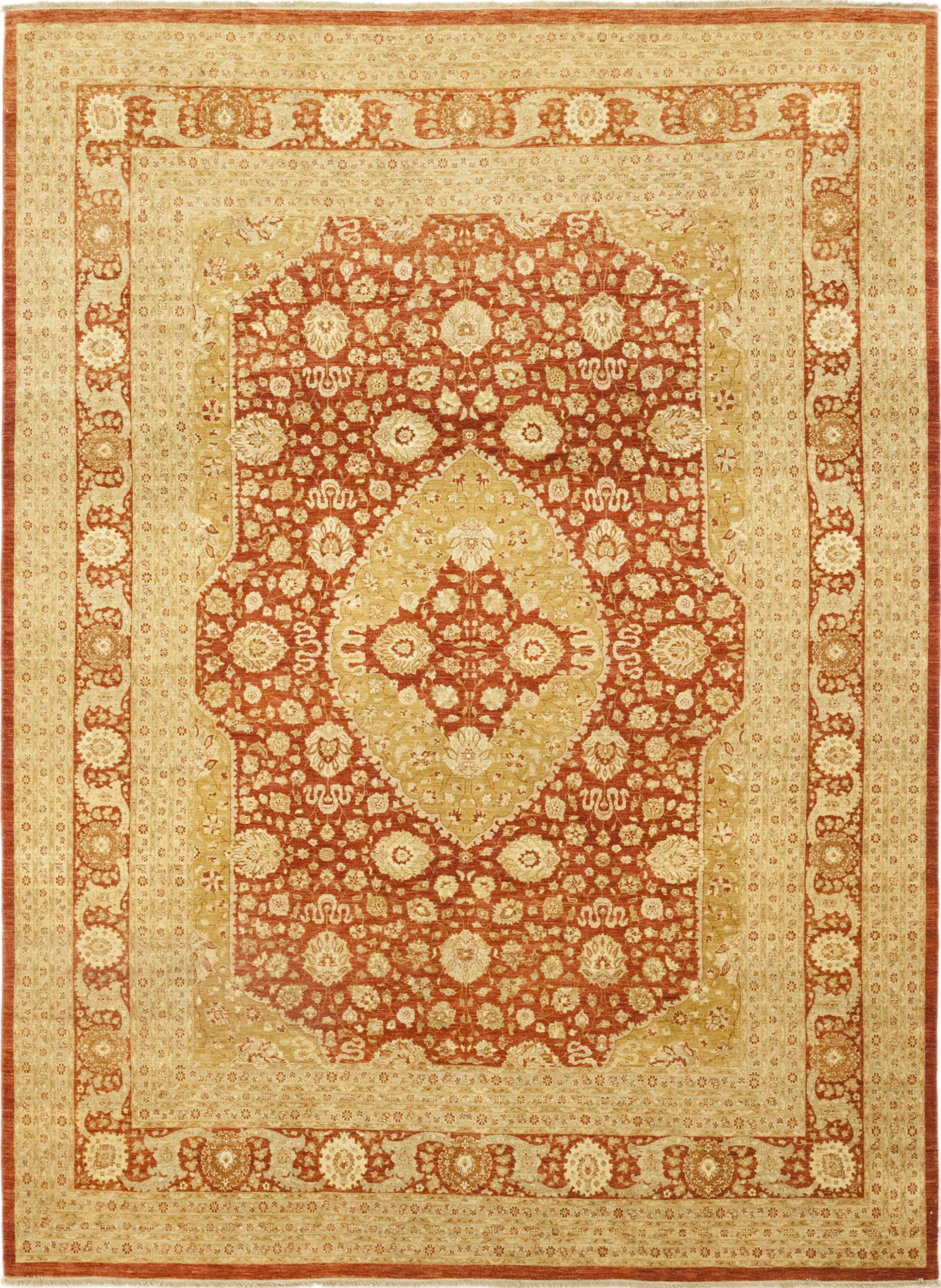 One-of-a-Kind Corrado Hand-Knotted Wool Beige/Brown Indoor Area Rug