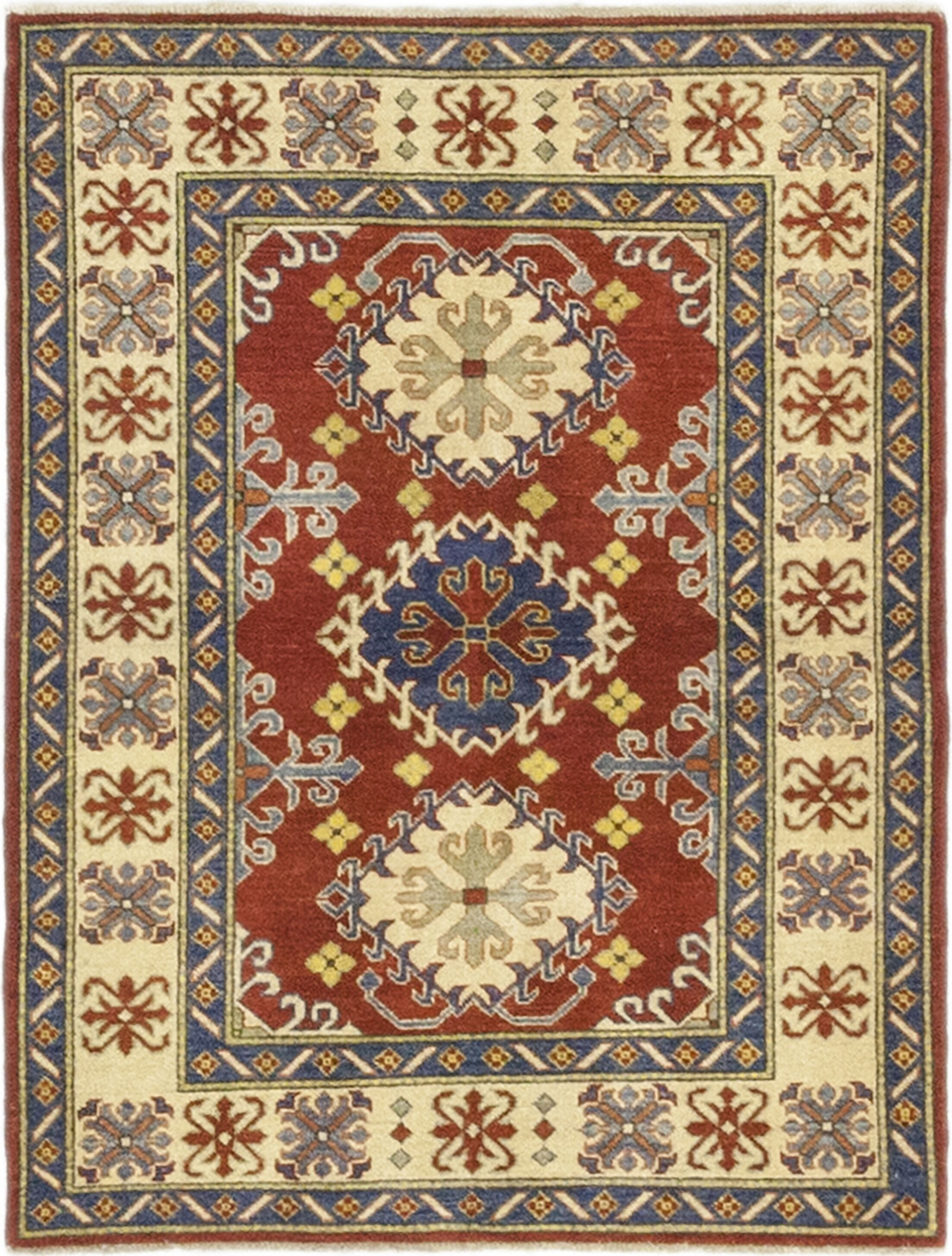 One-of-a-Kind Little Nell Hand-Knotted Wool Red Indoor Area Rug