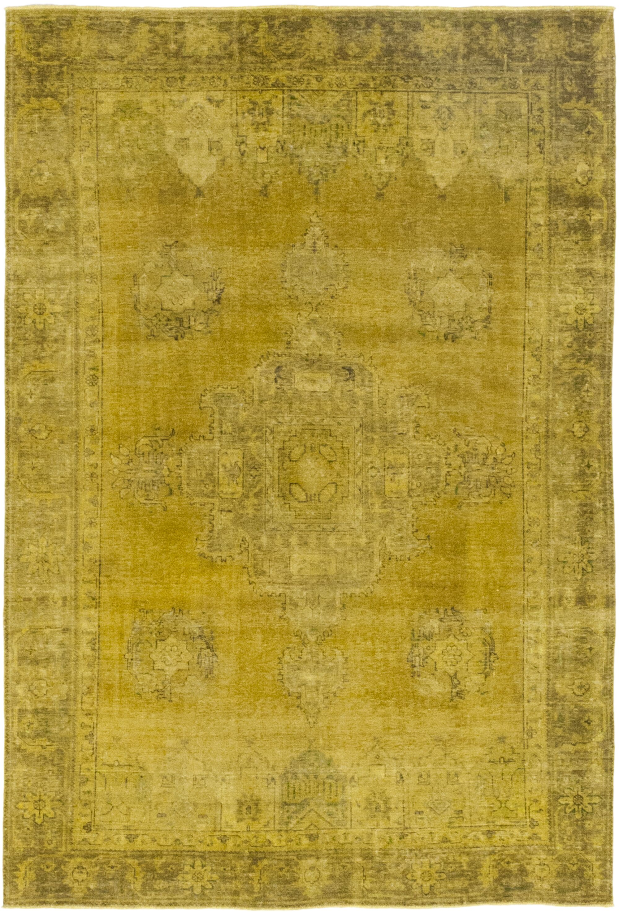 One-of-a-Kind Gitschier Hand-Knotted Wool Yellow Indoor Area Rug