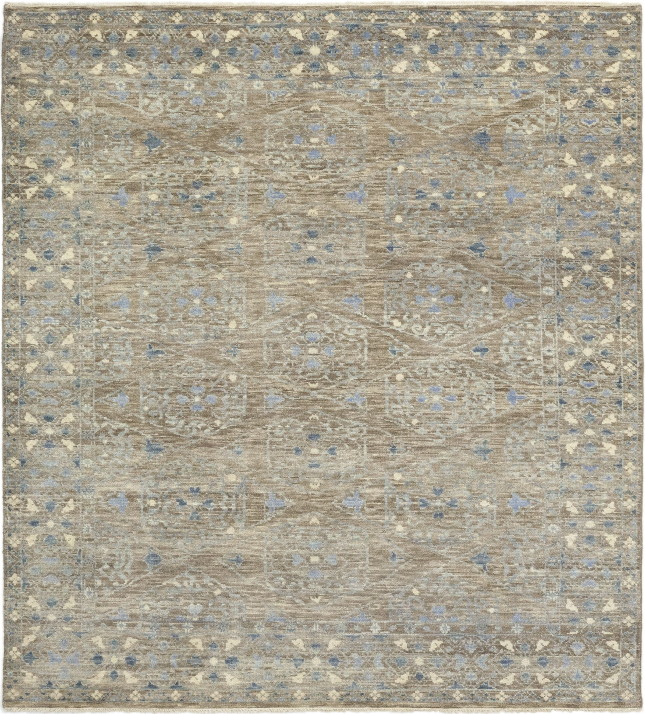 One-of-a-Kind Filzer Hand-Knotted Wool Gray Indoor Area Rug