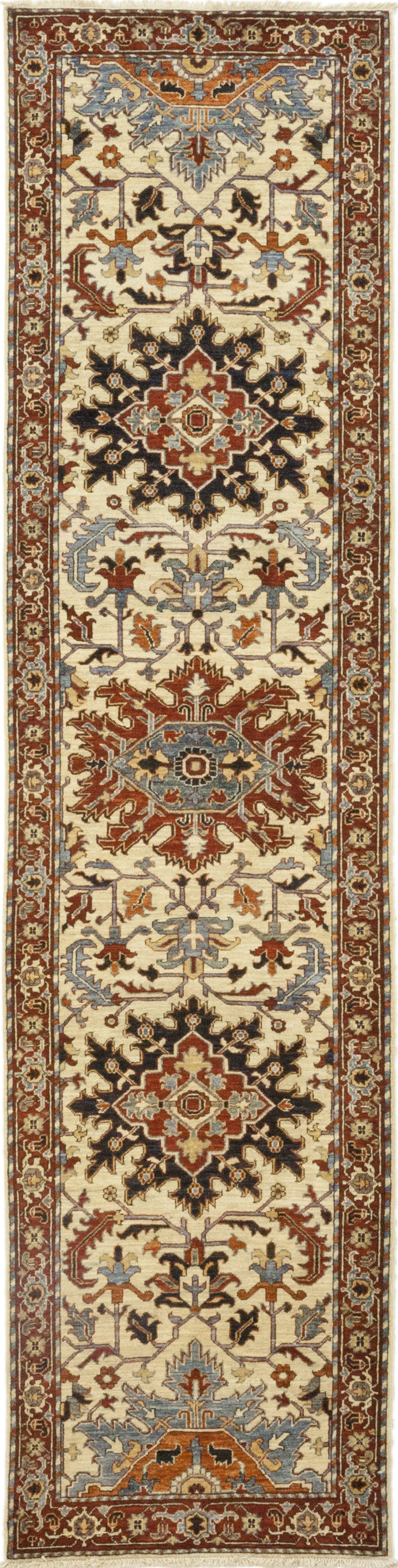 One-of-a-Kind Heimbach Hand-Knotted Wool Beige/Red Indoor Area Rug