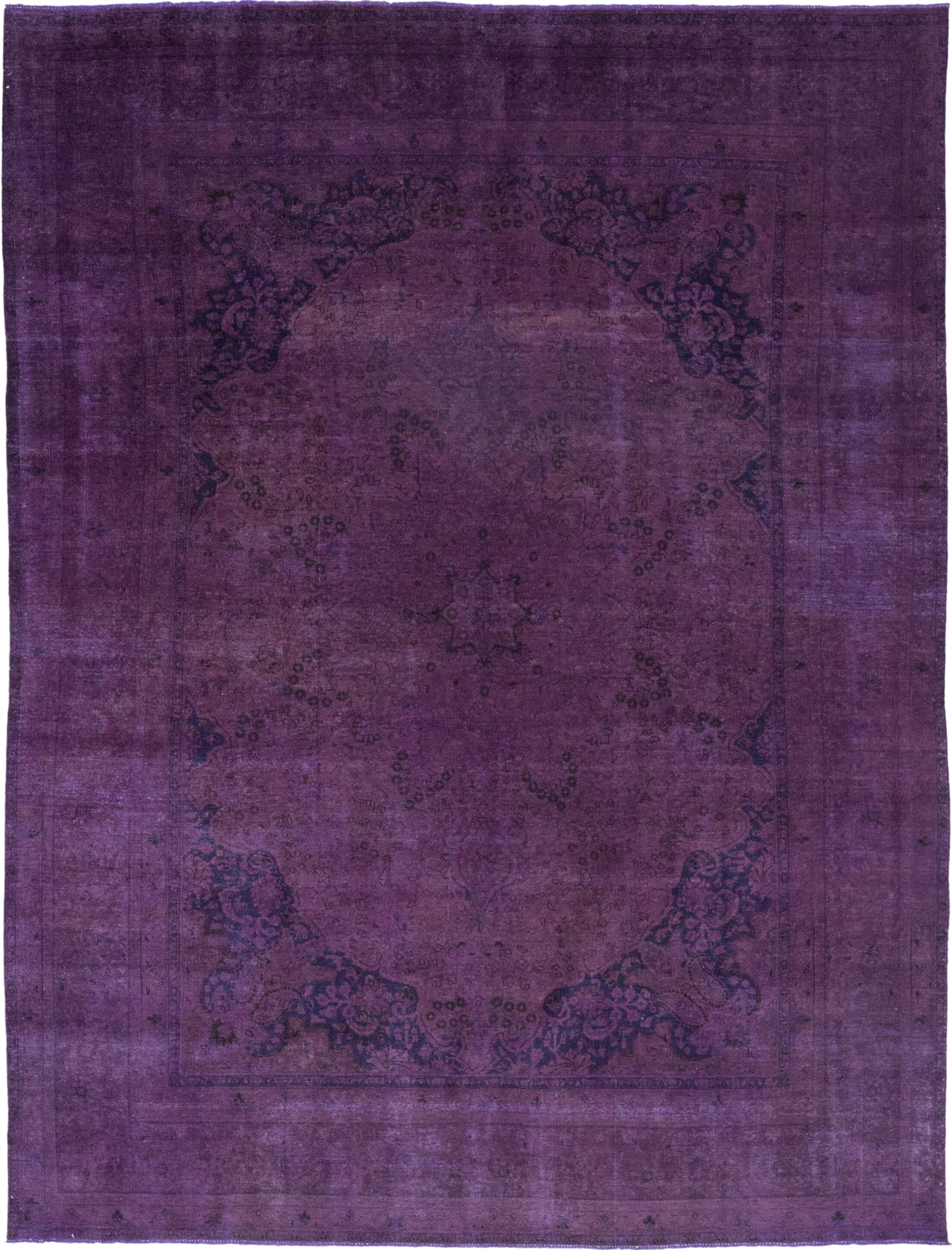 One-of-a-Kind Diakite Hand-Knotted Wool Purple Indoor Area Rug