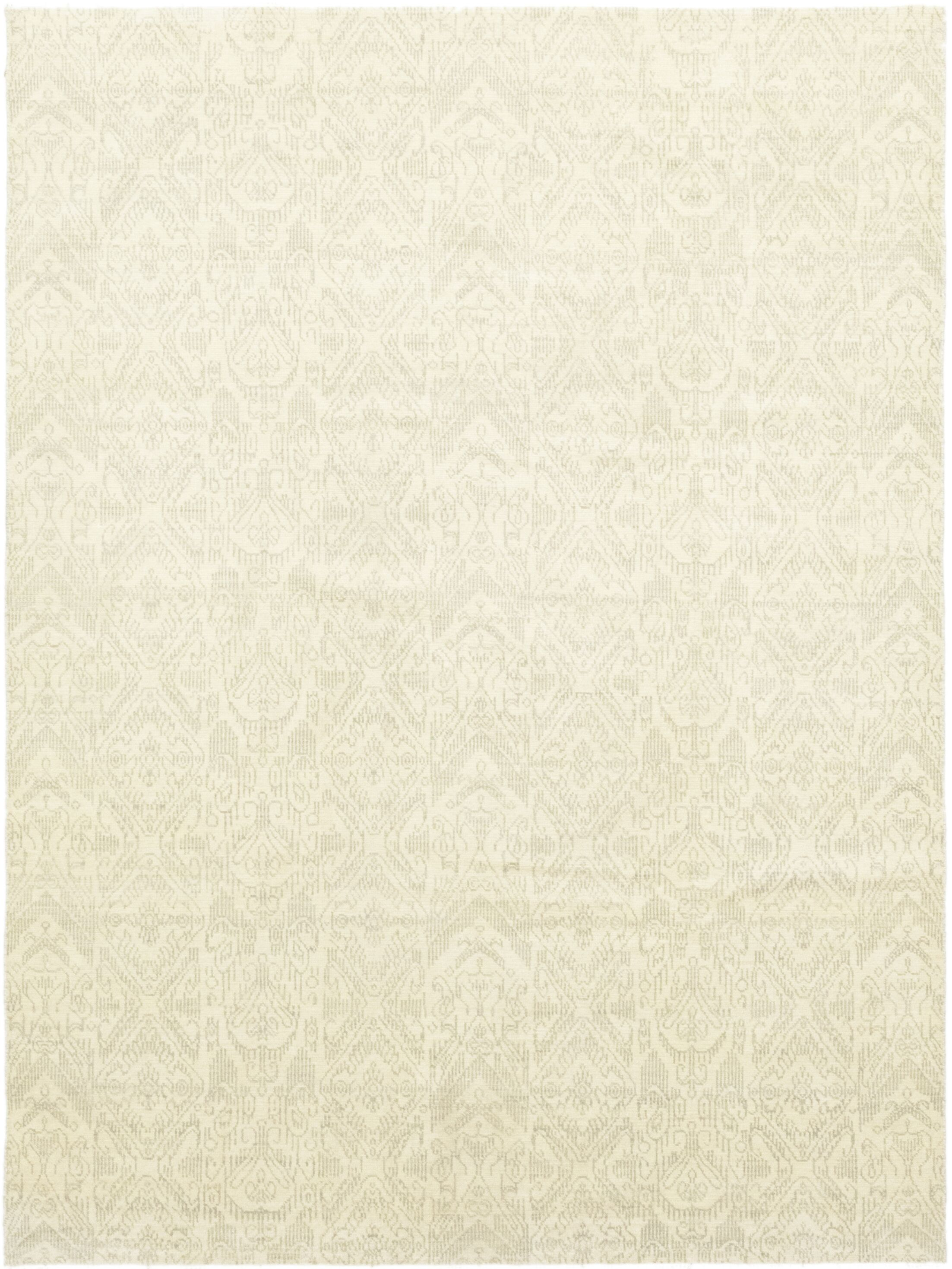 One-of-a-Kind Lochleven Hand-Knotted Wool Beige Indoor Area Rug