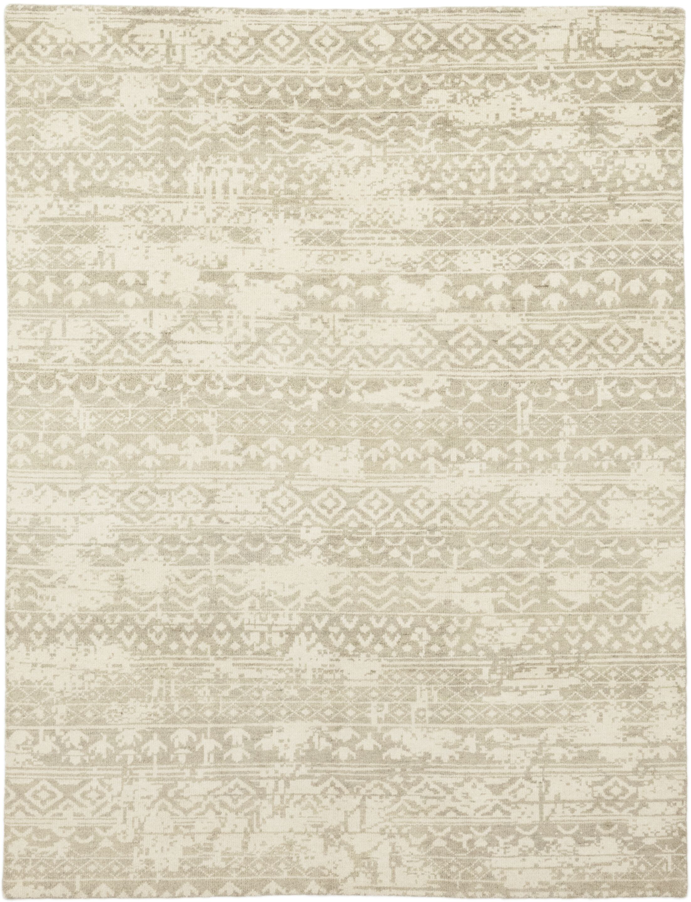 One-of-a-Kind Donaghy Hand-Knotted Wool Beige Indoor Area Rug