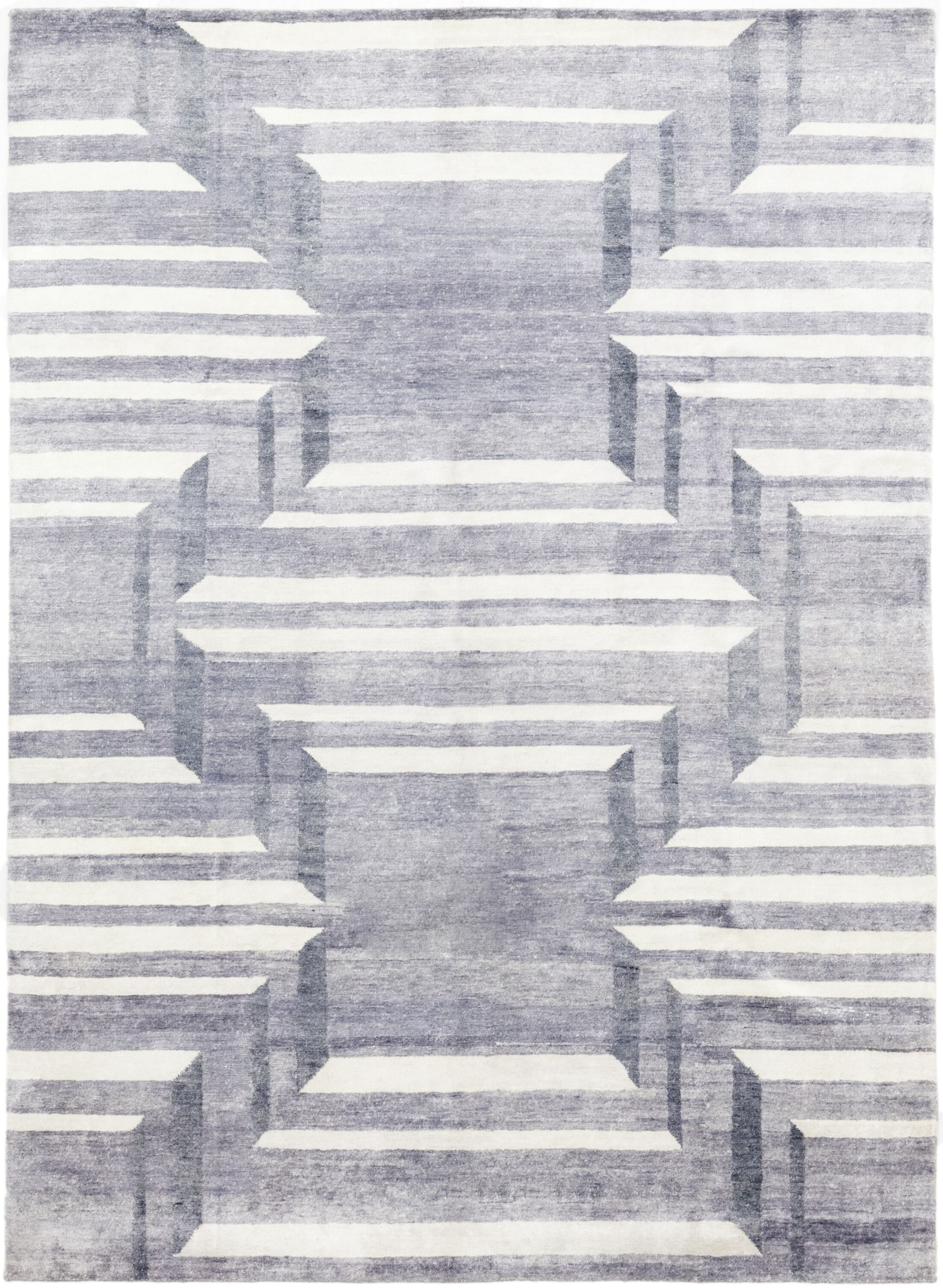 One-of-a-Kind Valdeze Hand-Knotted Wool Gray Indoor Area Rug
