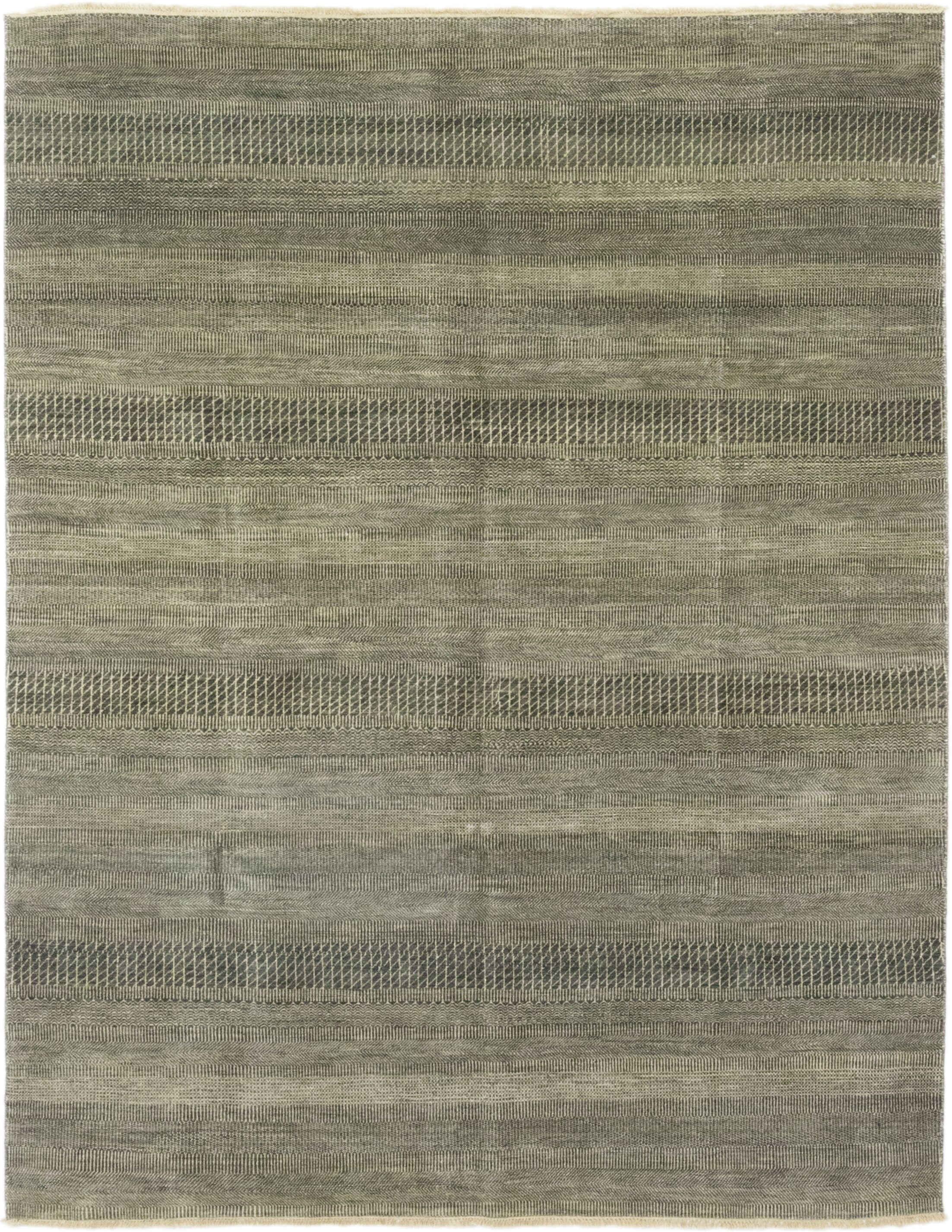 One-of-a-Kind Diederich Hand-Knotted Wool Gray Indoor Area Rug