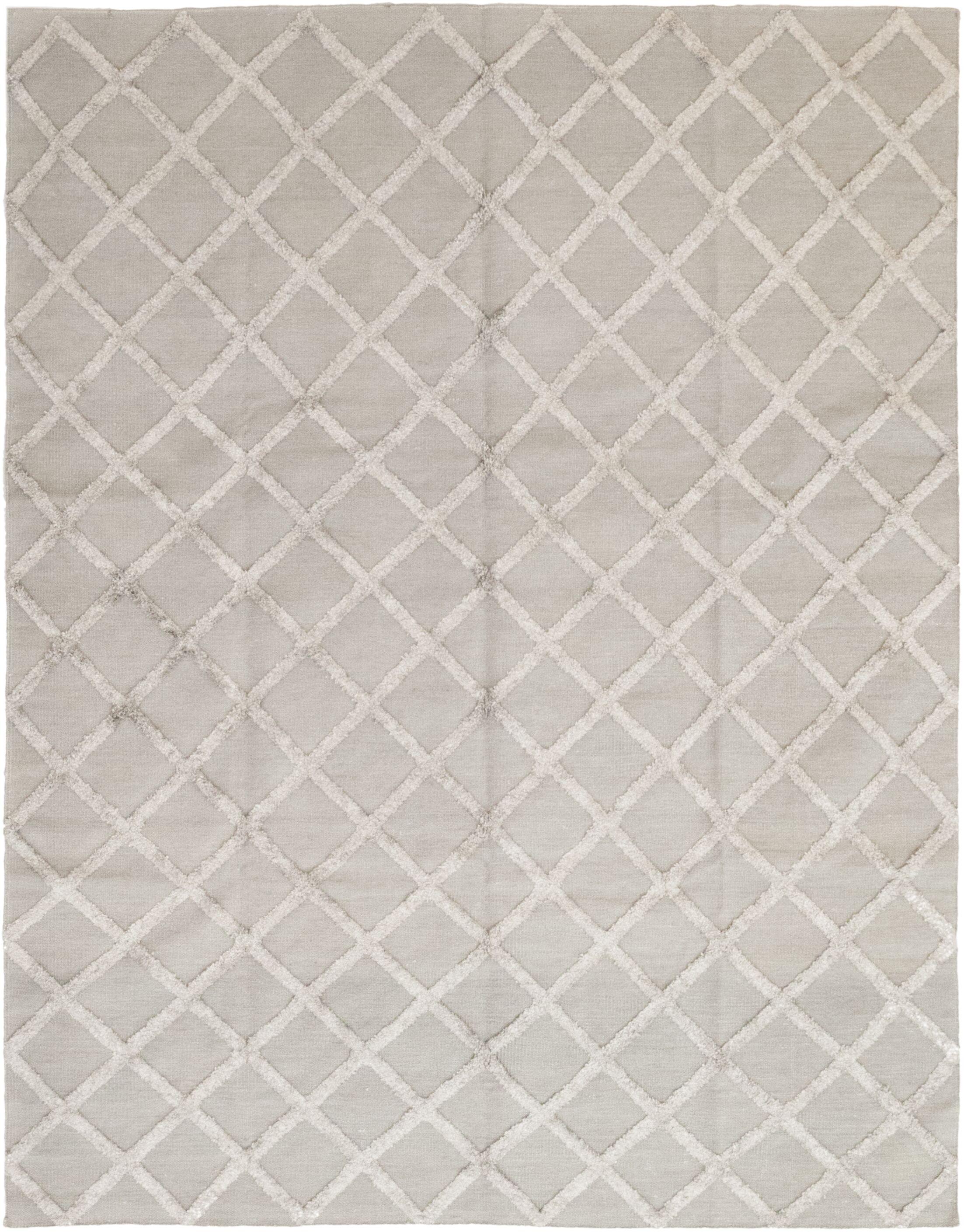 One-of-a-Kind Ellenberger Hand-Knotted Wool/Silk Beige Indoor Area Rug