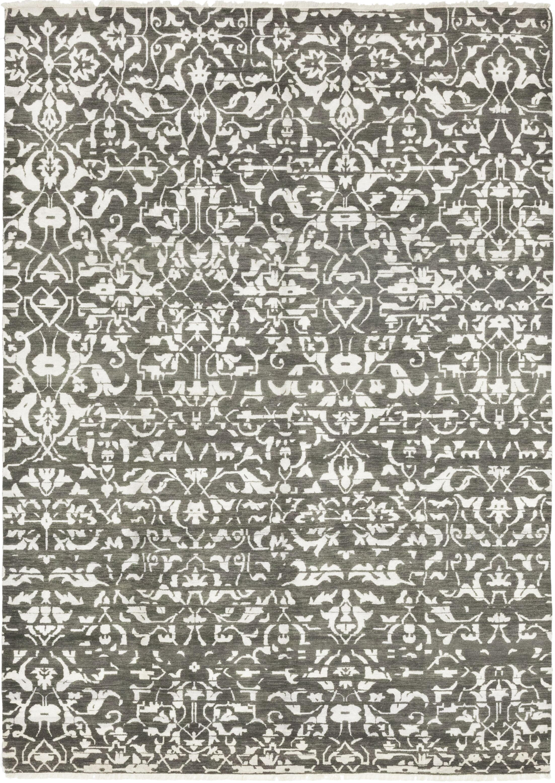 One-of-a-Kind Longstaff Hand-Knotted Wool Gray Indoor Area Rug