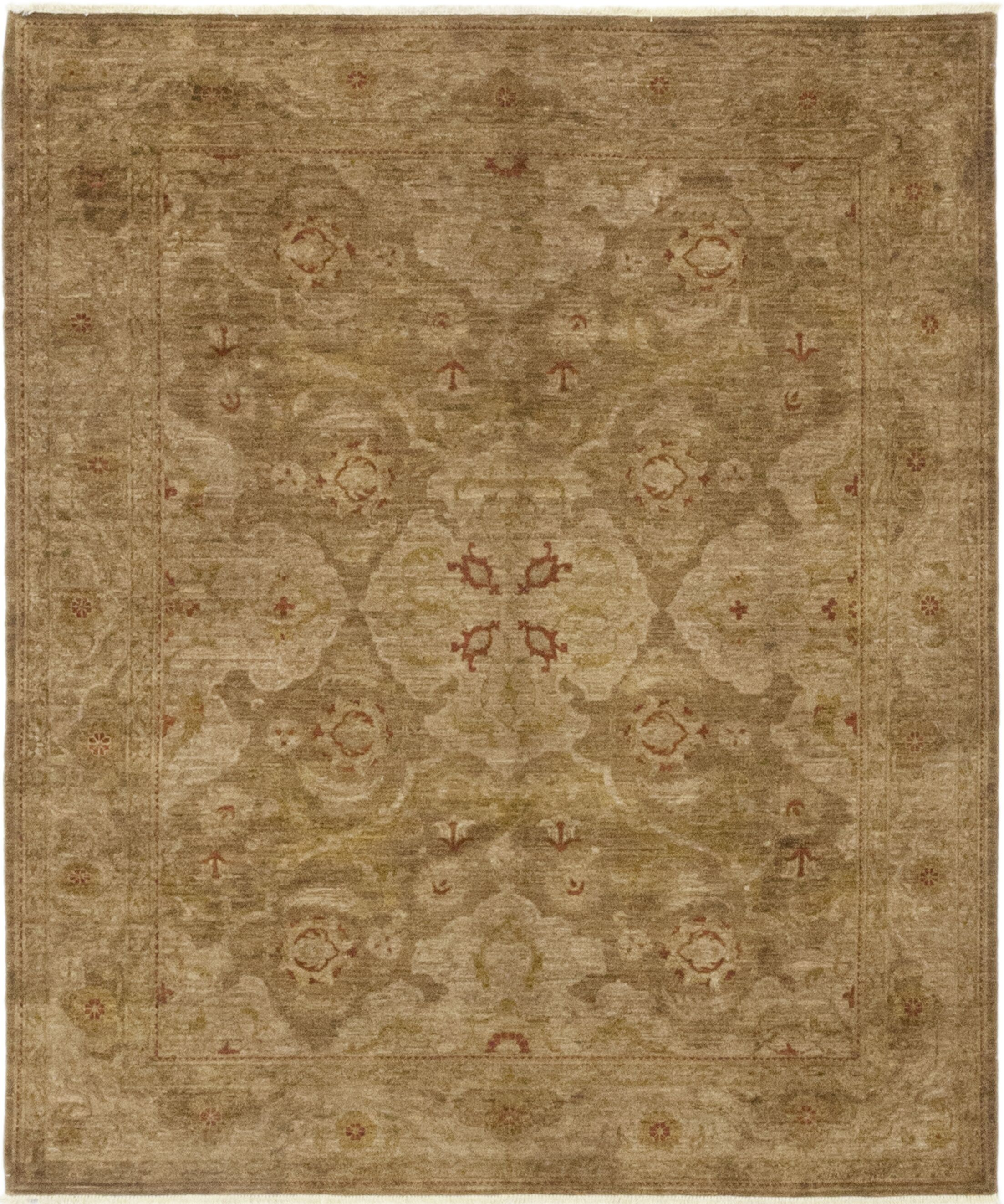 One-of-a-Kind Heimbach Hand-Knotted Wool Brown Indoor Area Rug
