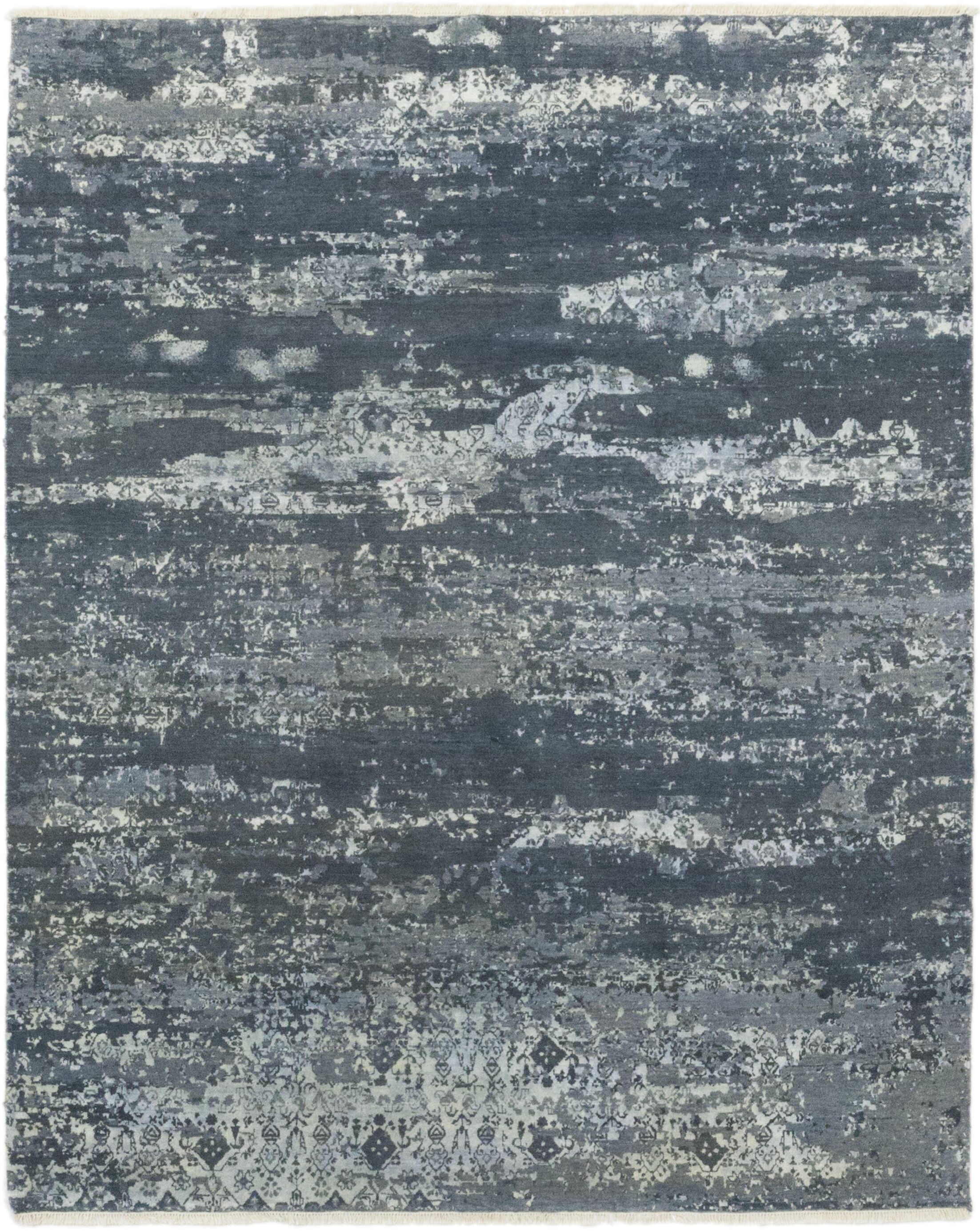 One-of-a-Kind Eliason Hand-Knotted Wool Gray Indoor Area Rug
