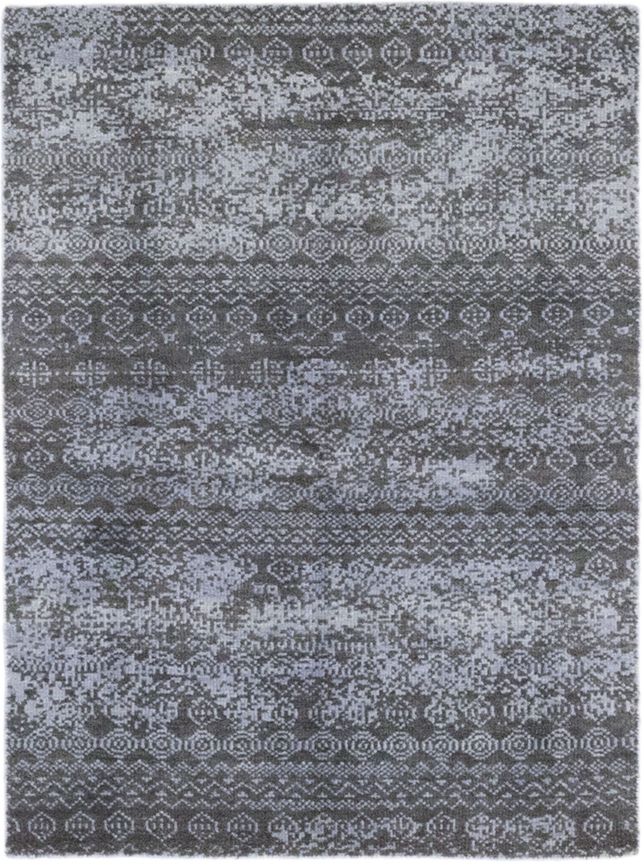 One-of-a-Kind Olvera Hand-Knotted Wool Gray Indoor Area Rug