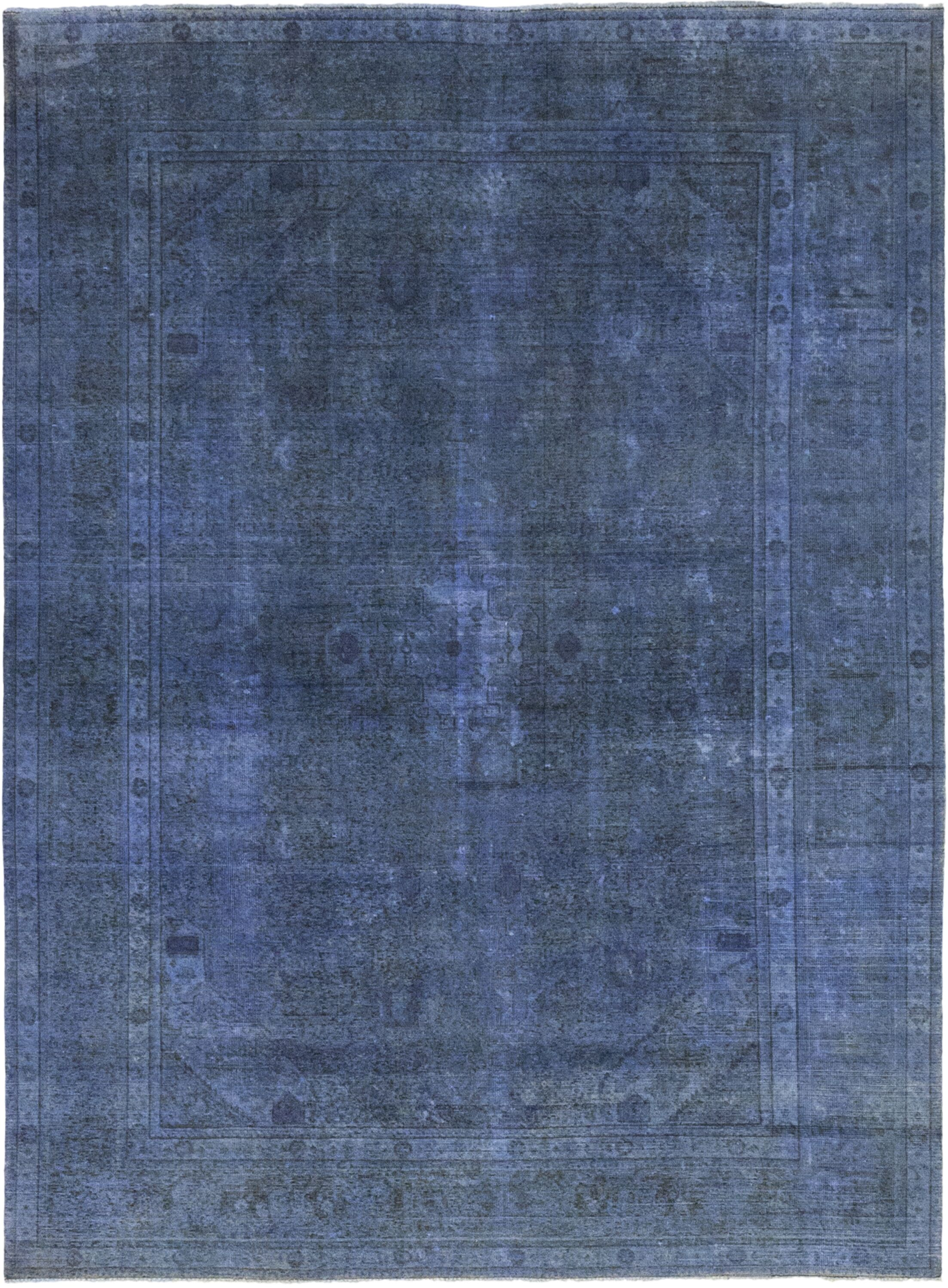 One-of-a-Kind Steineckert Hand-Knotted Wool Blue Indoor Area Rug