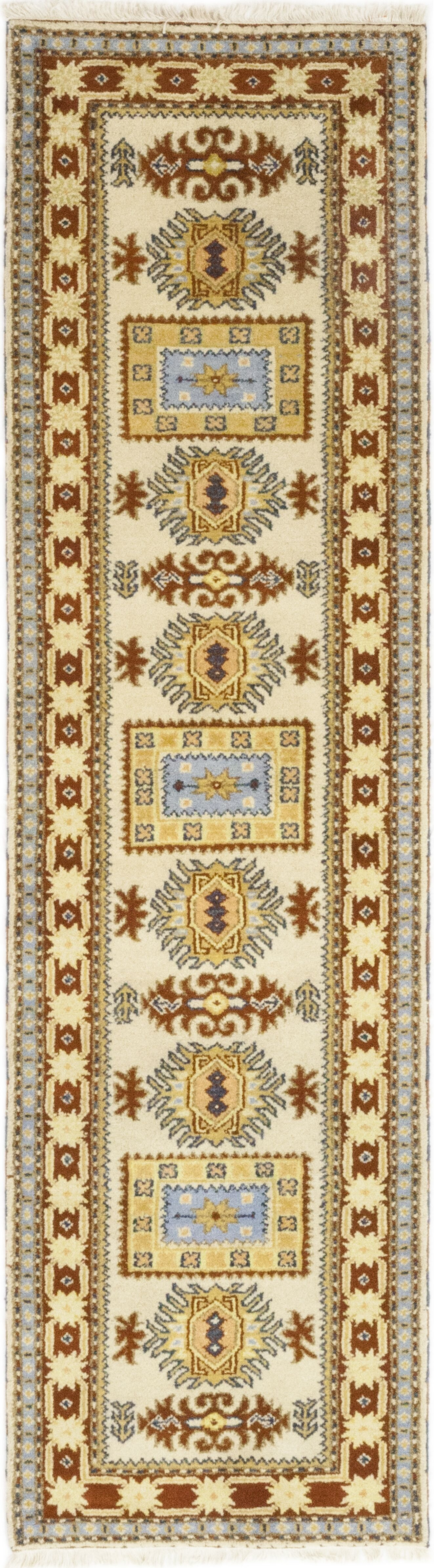 One-of-a-Kind Kapp Hand-Knotted Wool Beige Indoor Area Rug