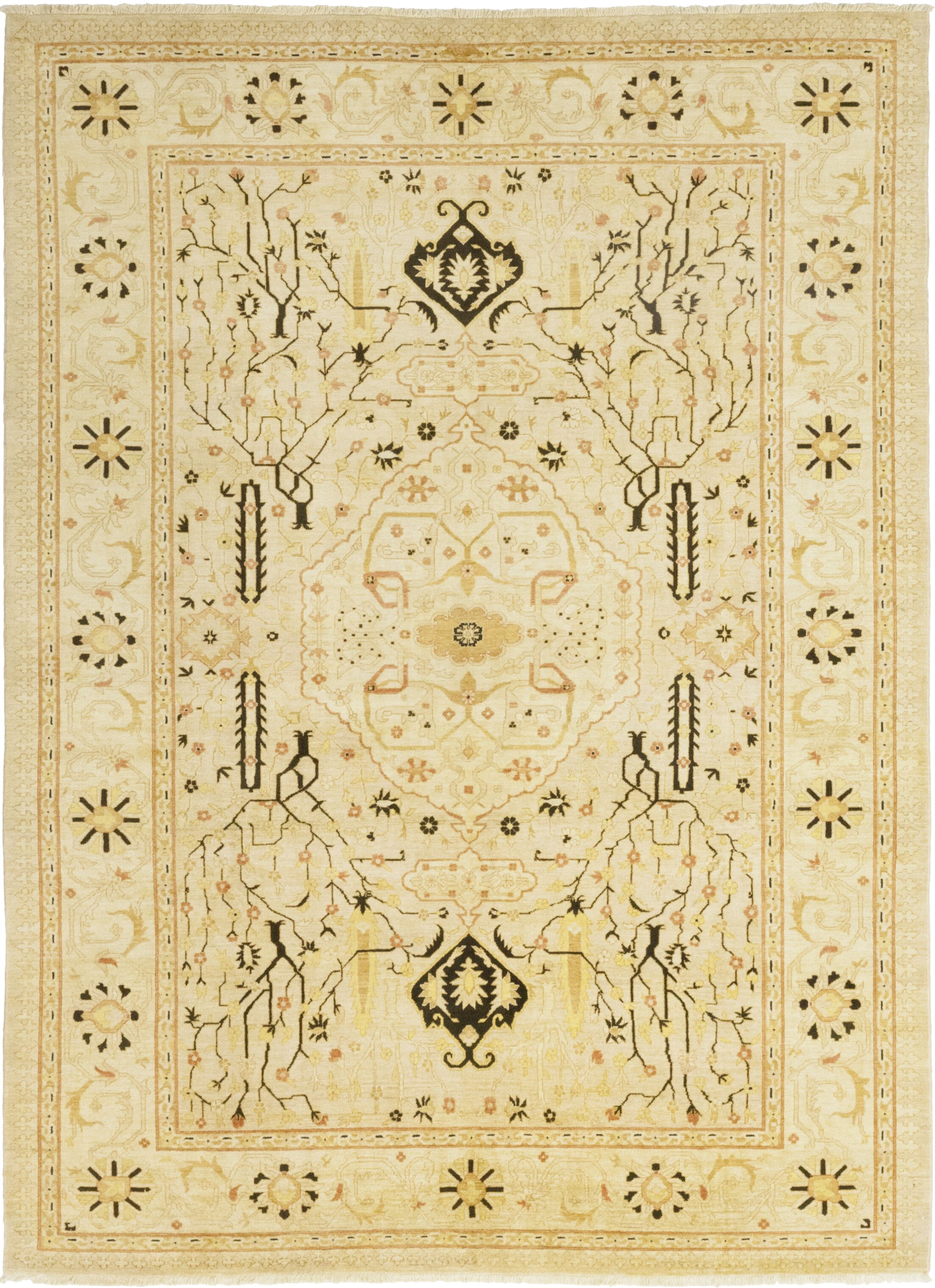 One-of-a-Kind Heimbach Hand-Knotted Wool Beige Indoor Area Rug