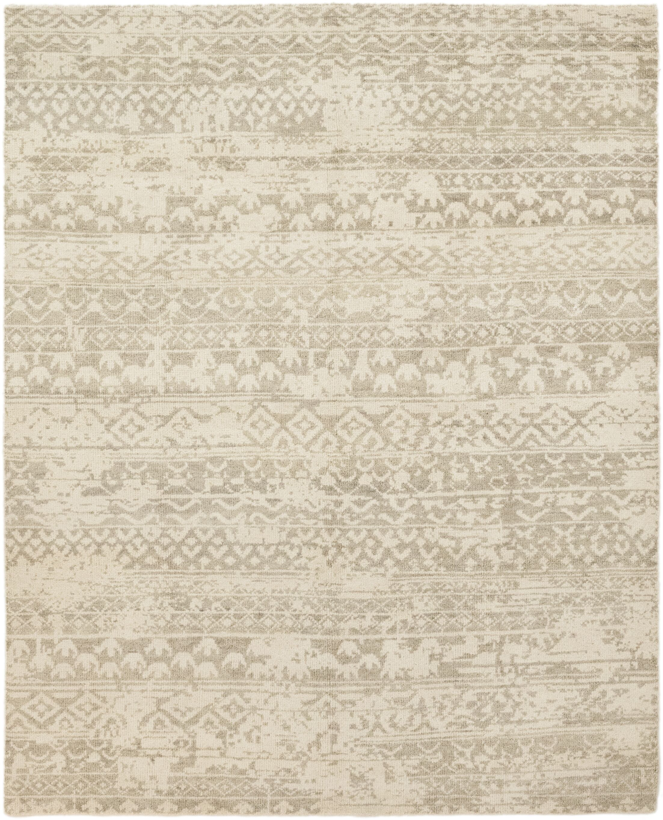 One-of-a-Kind Dominique Hand-Knotted Wool Beige Indoor Area Rug