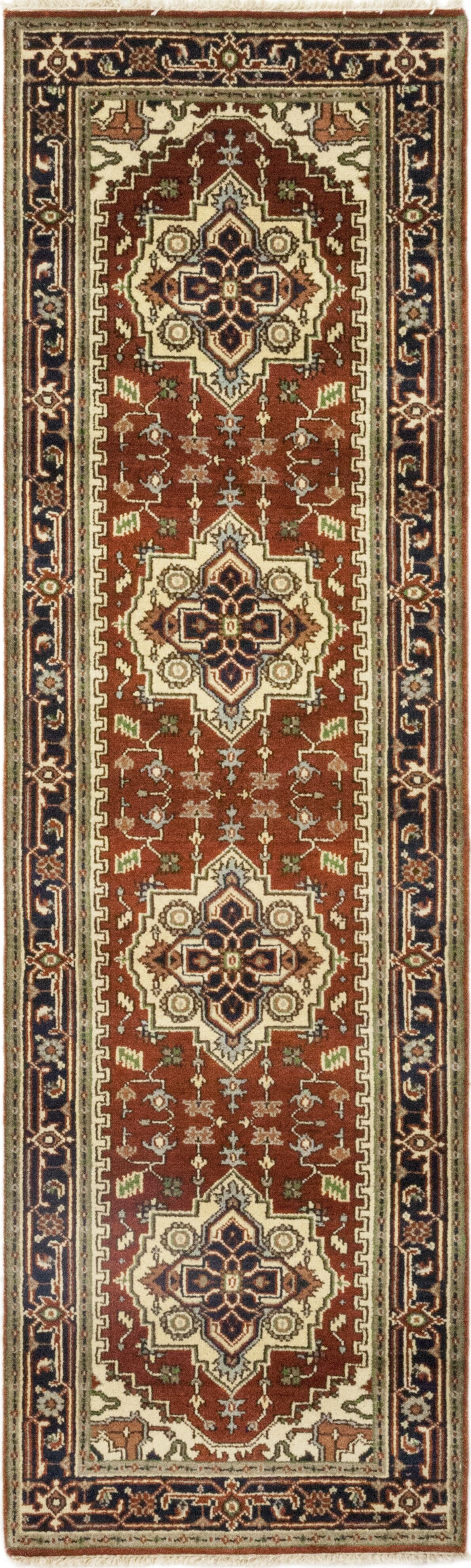 One-of-a-Kind Cort Hand-Knotted Wool Brown/Beige Indoor Area Rug