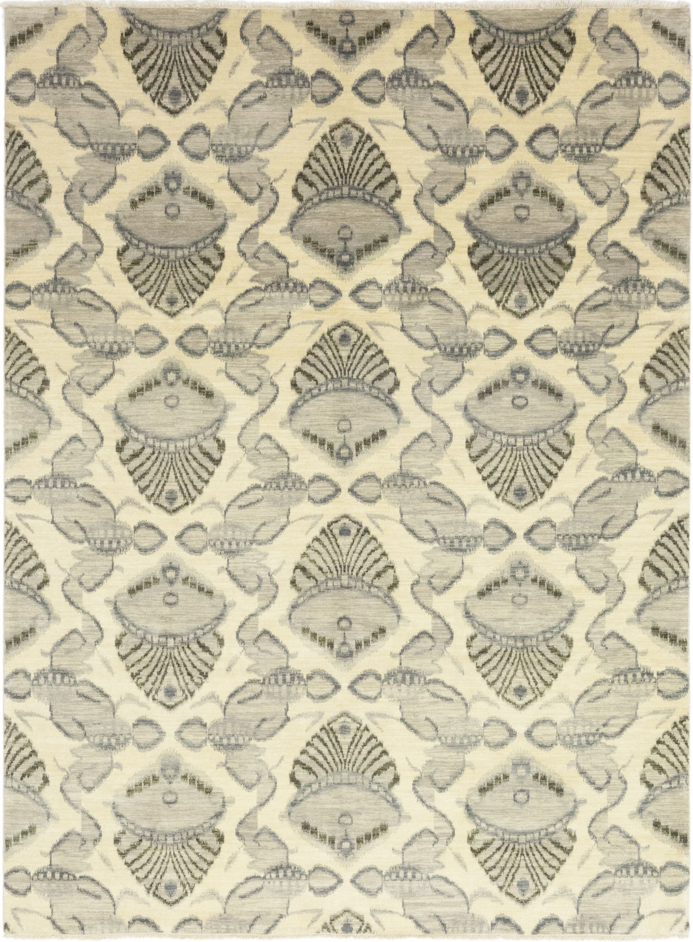 One-of-a-Kind Lobardy Hand-Knotted Wool Beige Indoor Area Rug