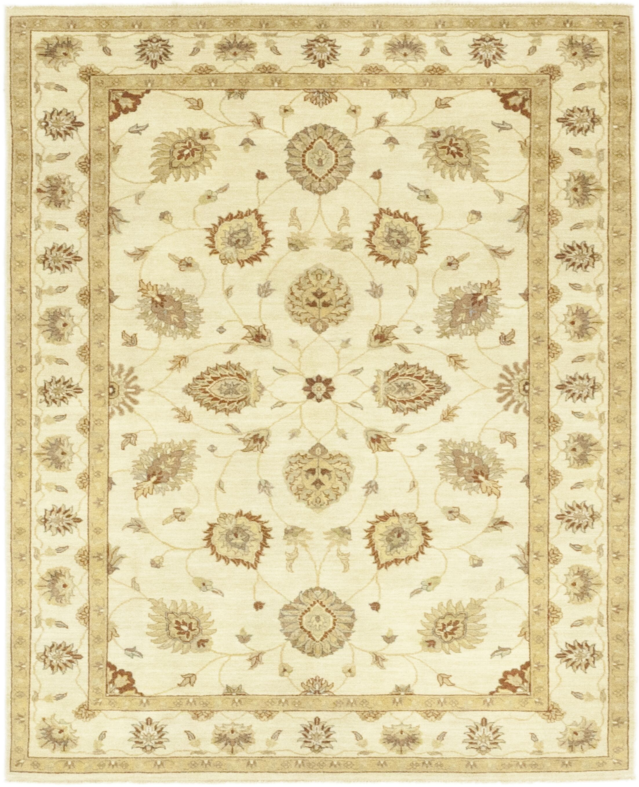 One-of-a-Kind Dionne Hand-Knotted Wool Beige Indoor Area Rug